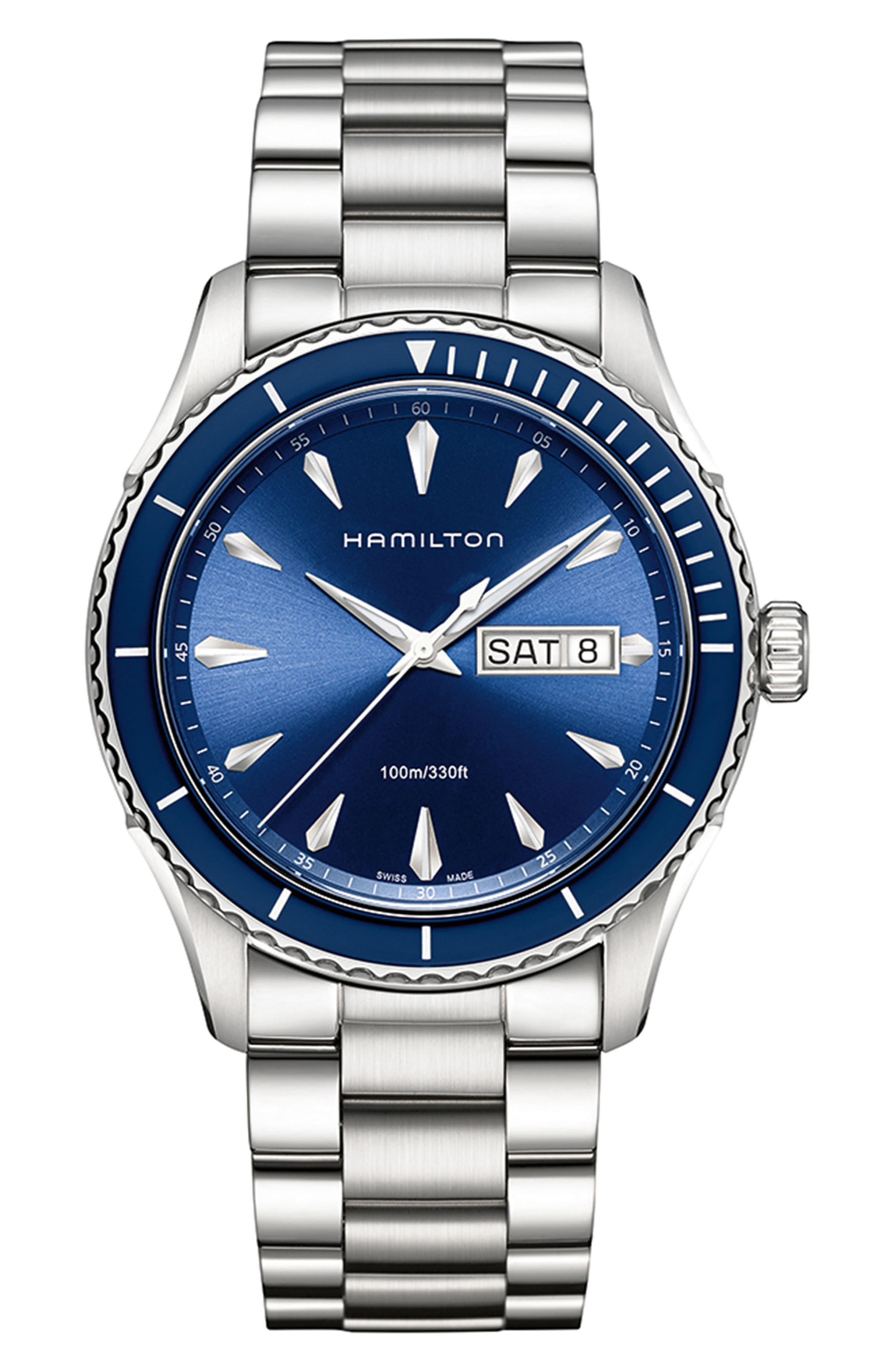 Jazzmaster Seaview Bracelet Watch,                             Main thumbnail 1, color,                             042