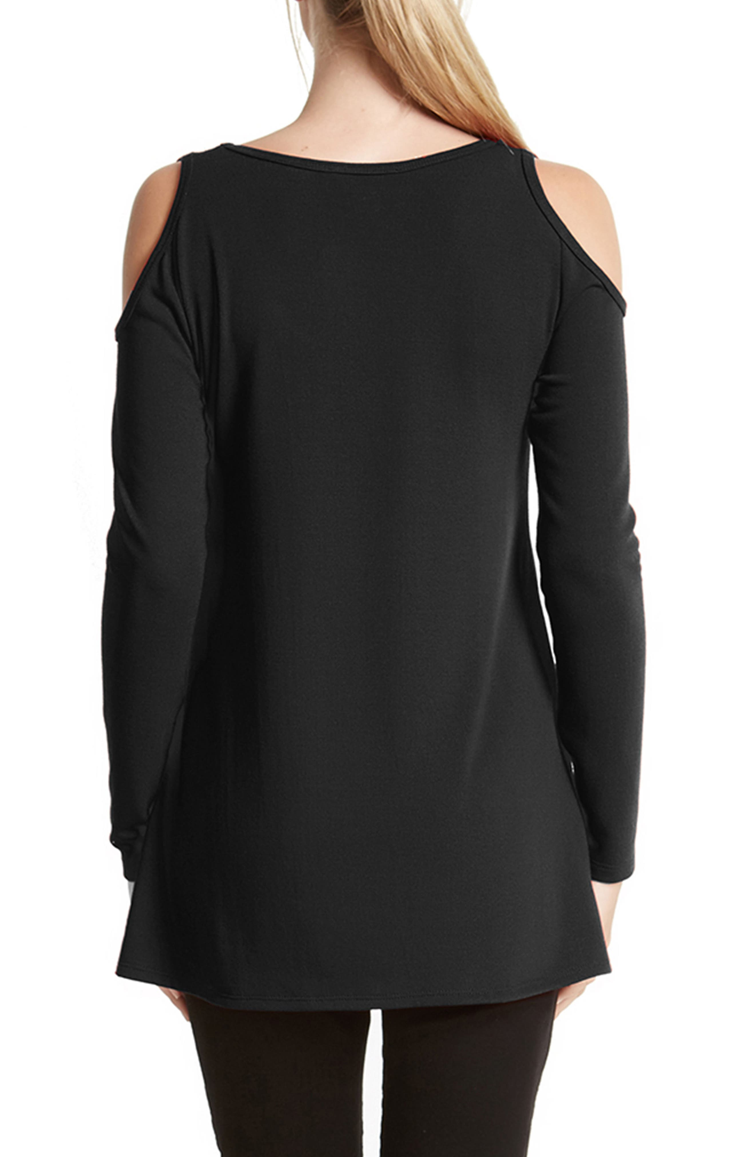 High/Low Cold Shoulder Sweater,                             Alternate thumbnail 5, color,