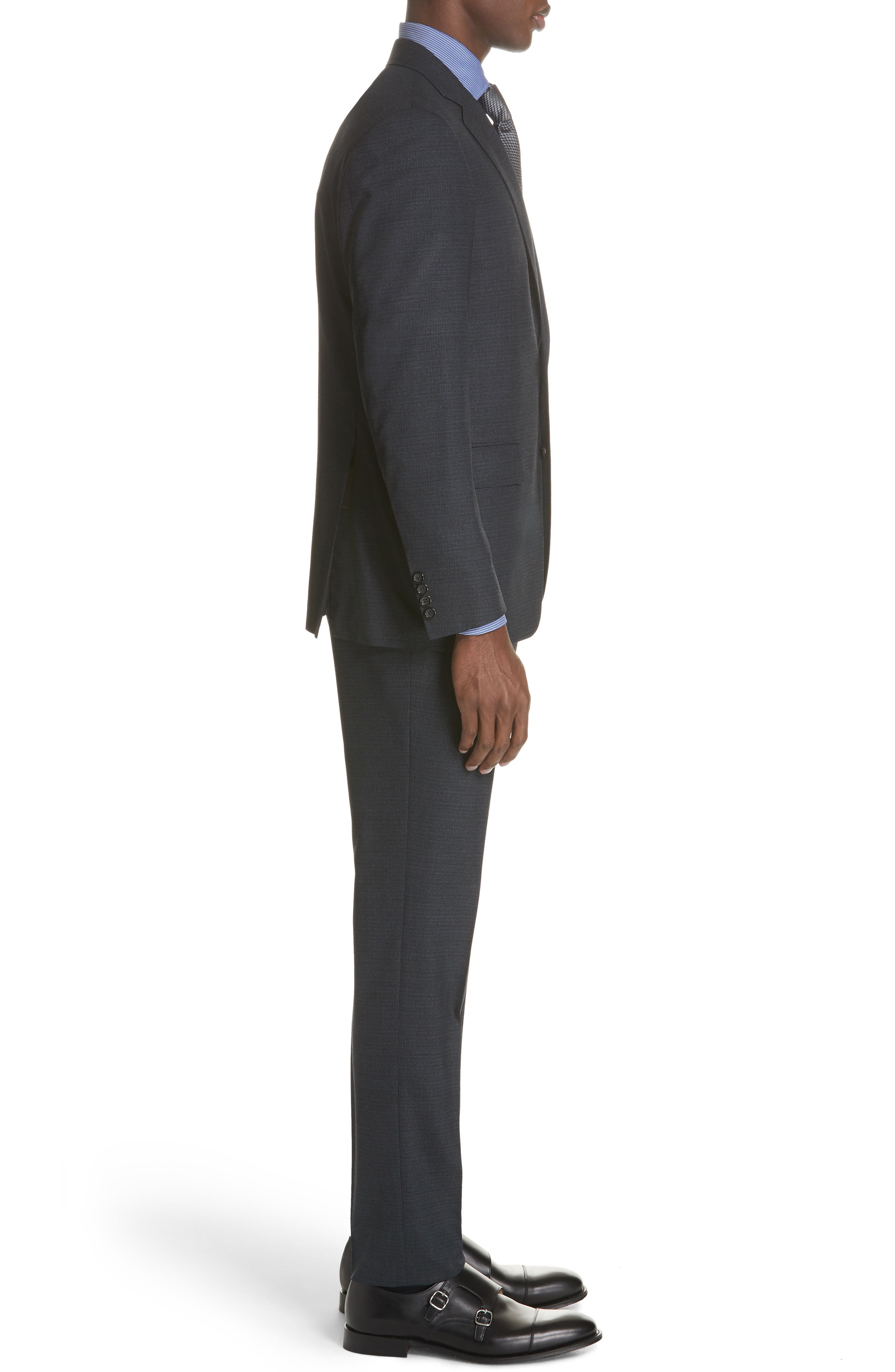 CANALI,                             Classic Fit Stretch Check Wool Suit,                             Alternate thumbnail 3, color,                             400