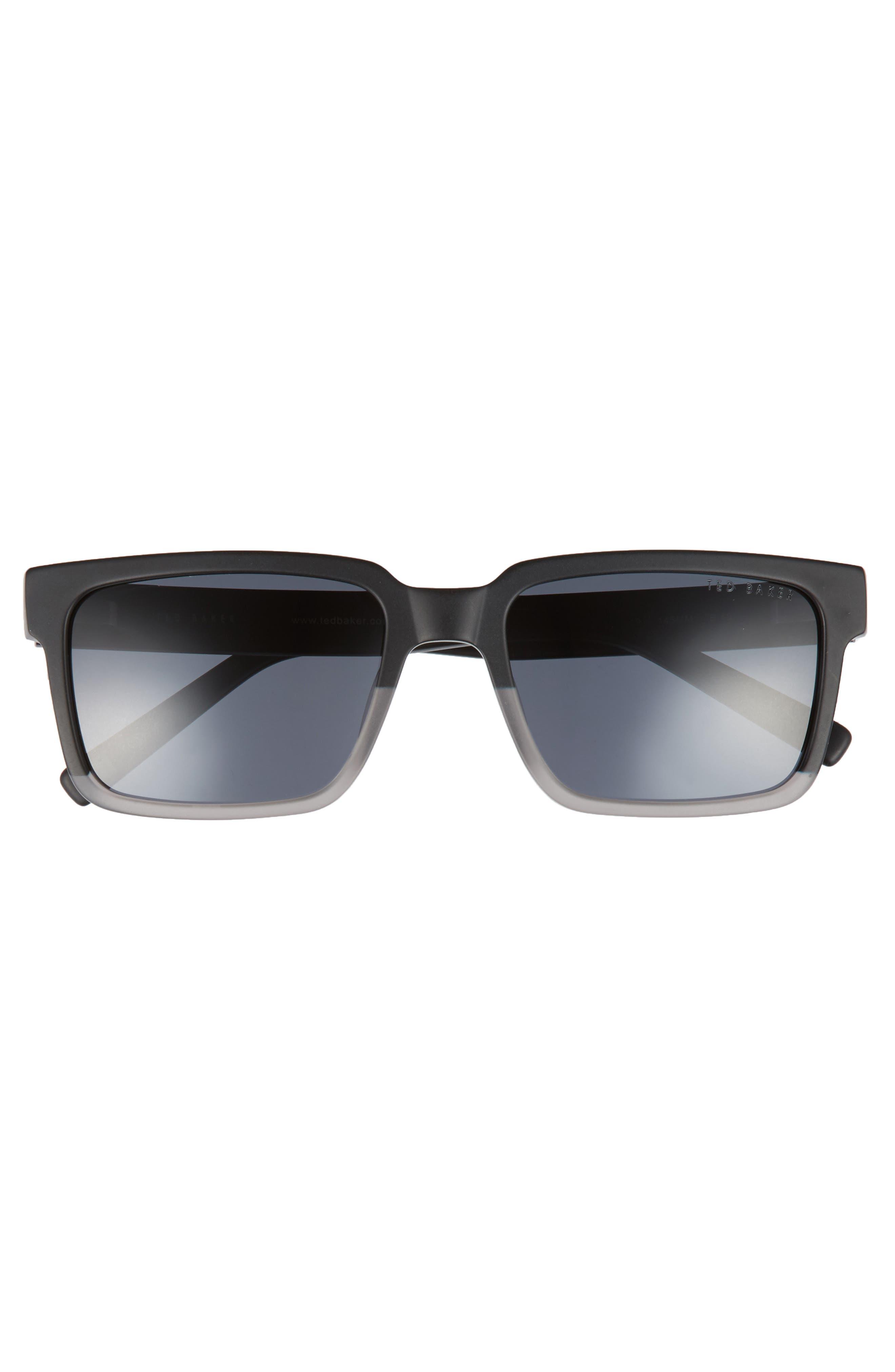 56mm Polarized Rectangular Sunglasses,                             Alternate thumbnail 2, color,                             001
