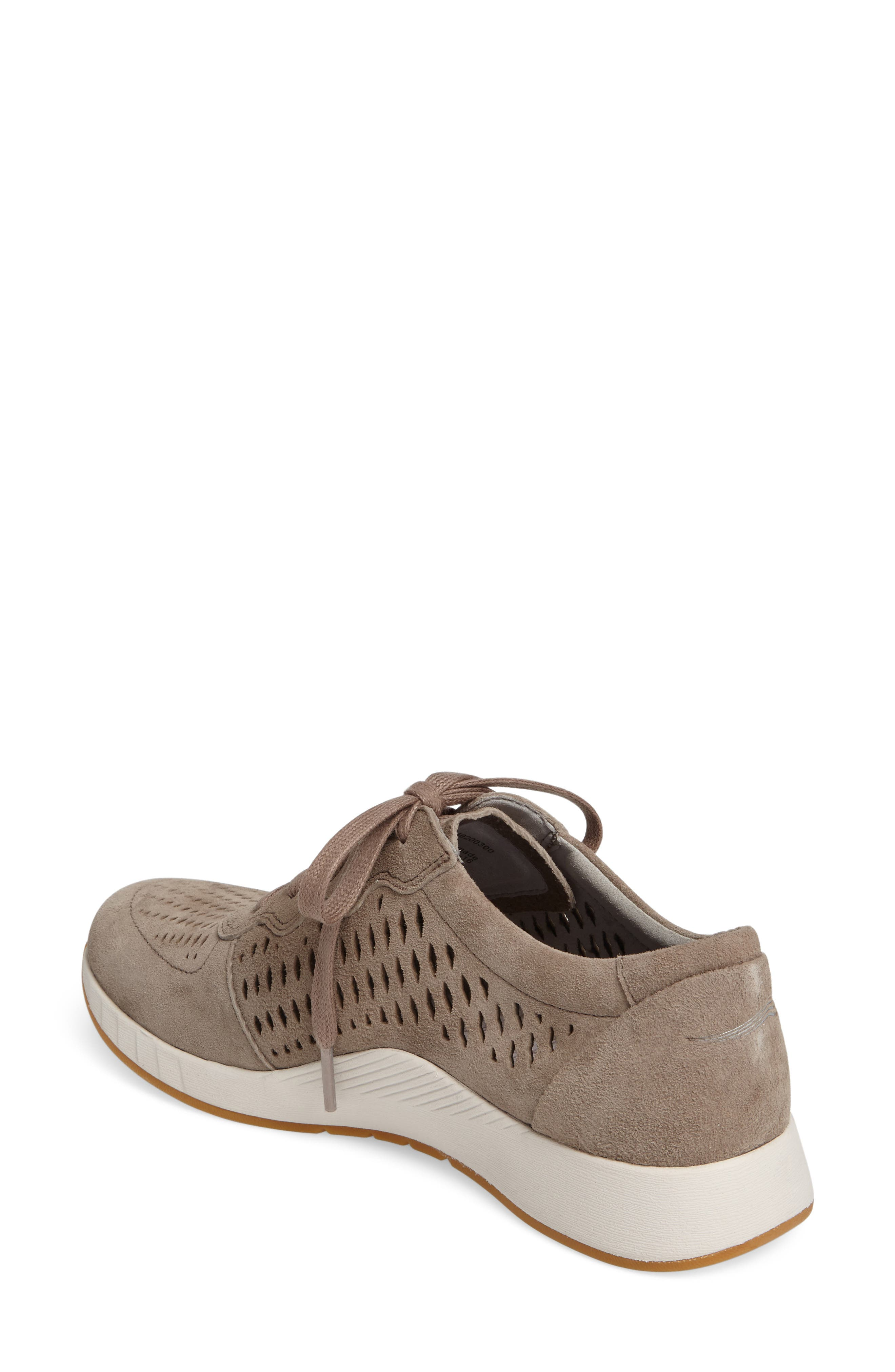 Charlie Perforated Sneaker,                             Alternate thumbnail 2, color,                             WALNUT SUEDE