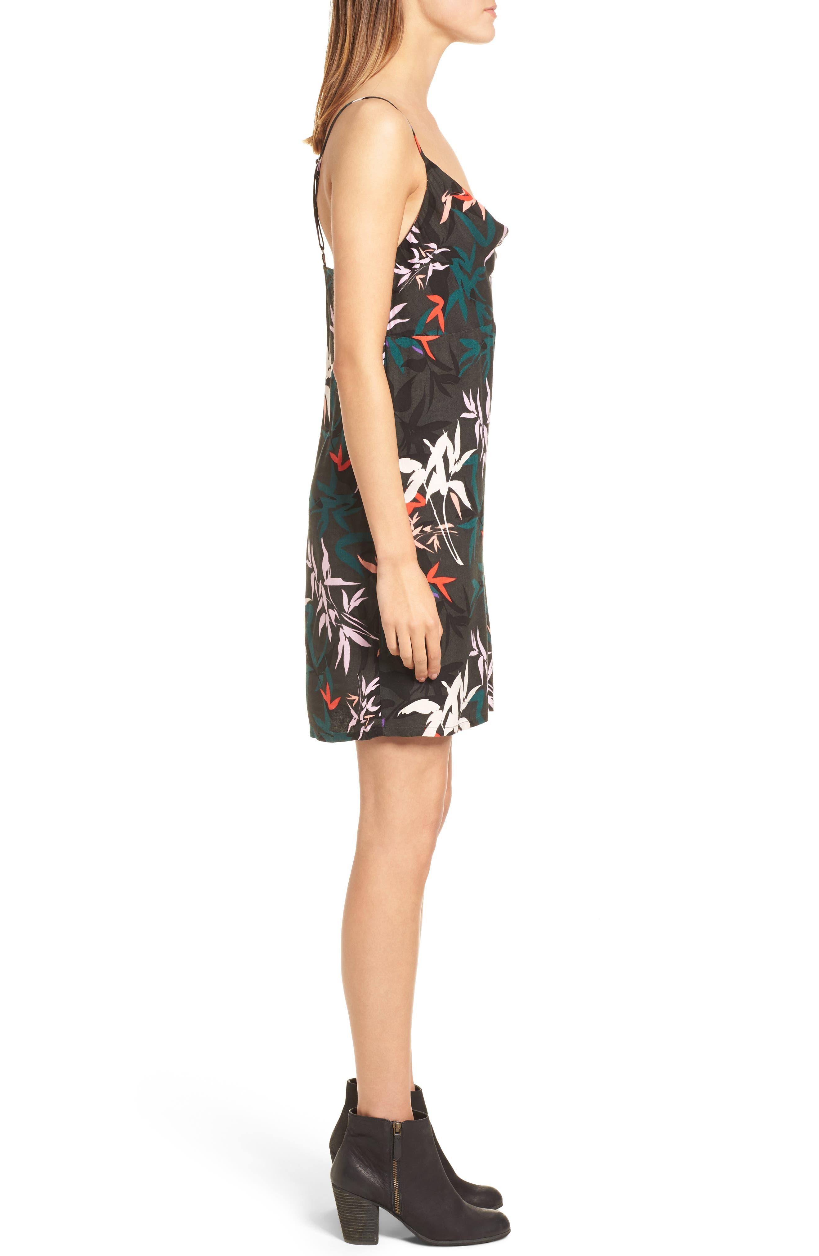 Calyx Cowl Neck Dress,                             Alternate thumbnail 3, color,