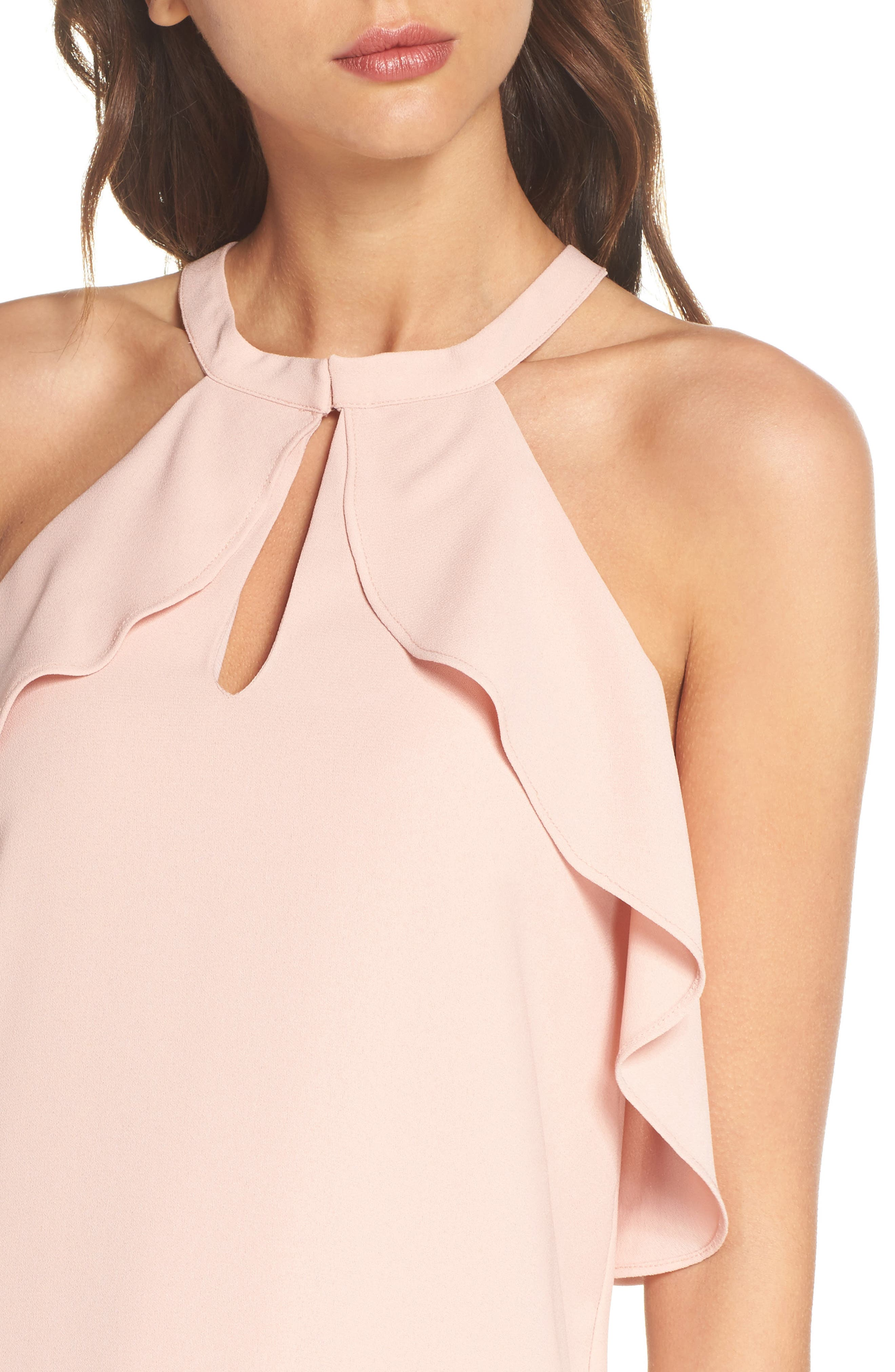 Halter Neck Dress,                             Alternate thumbnail 4, color,                             689