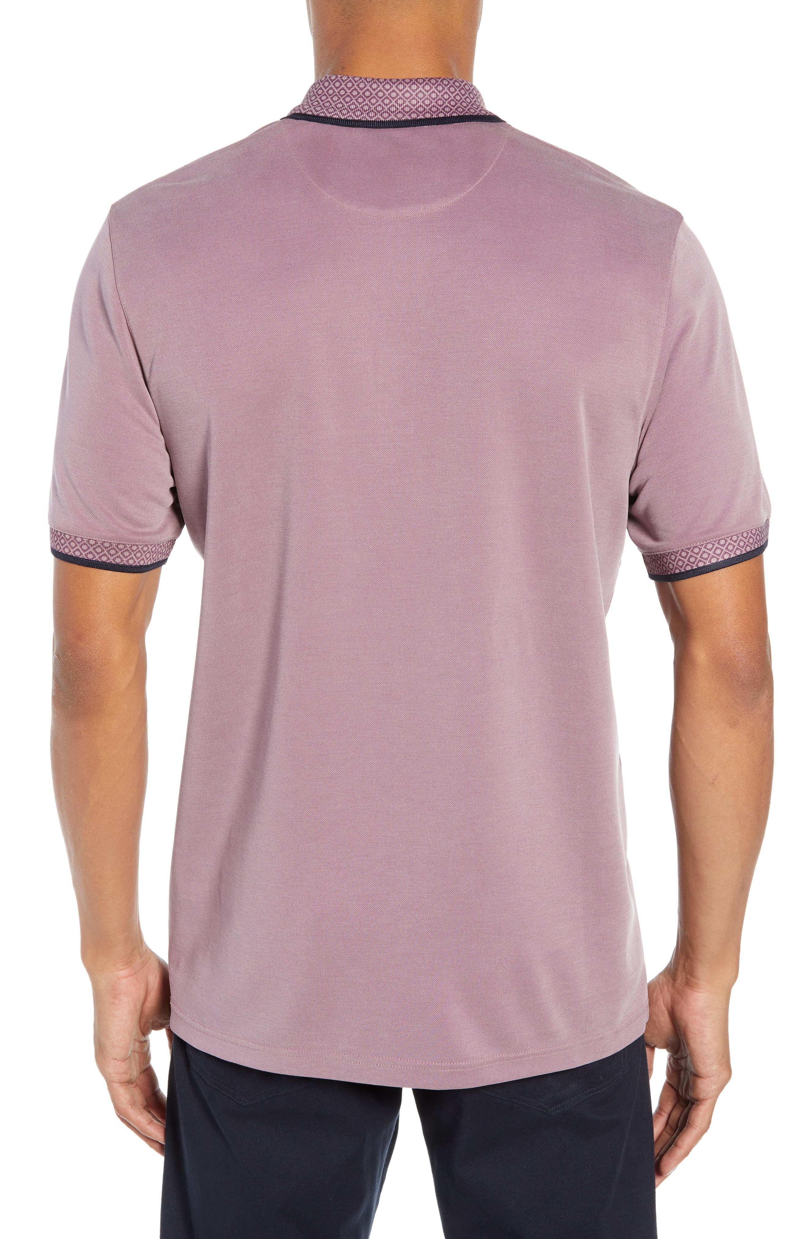 Slim Fit Belver Tipped Polo,                             Alternate thumbnail 2, color,                             PURPLE