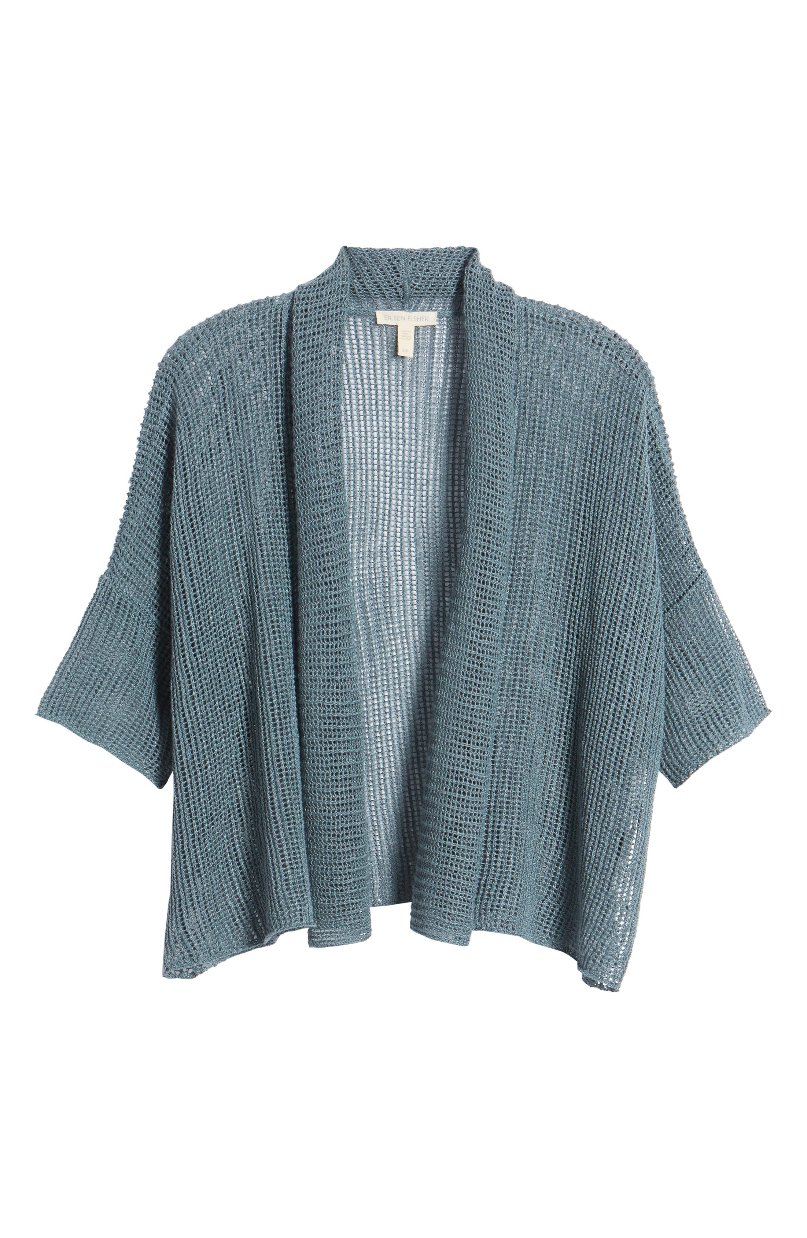 Boxy Organic Linen Cardigan,                             Alternate thumbnail 31, color,