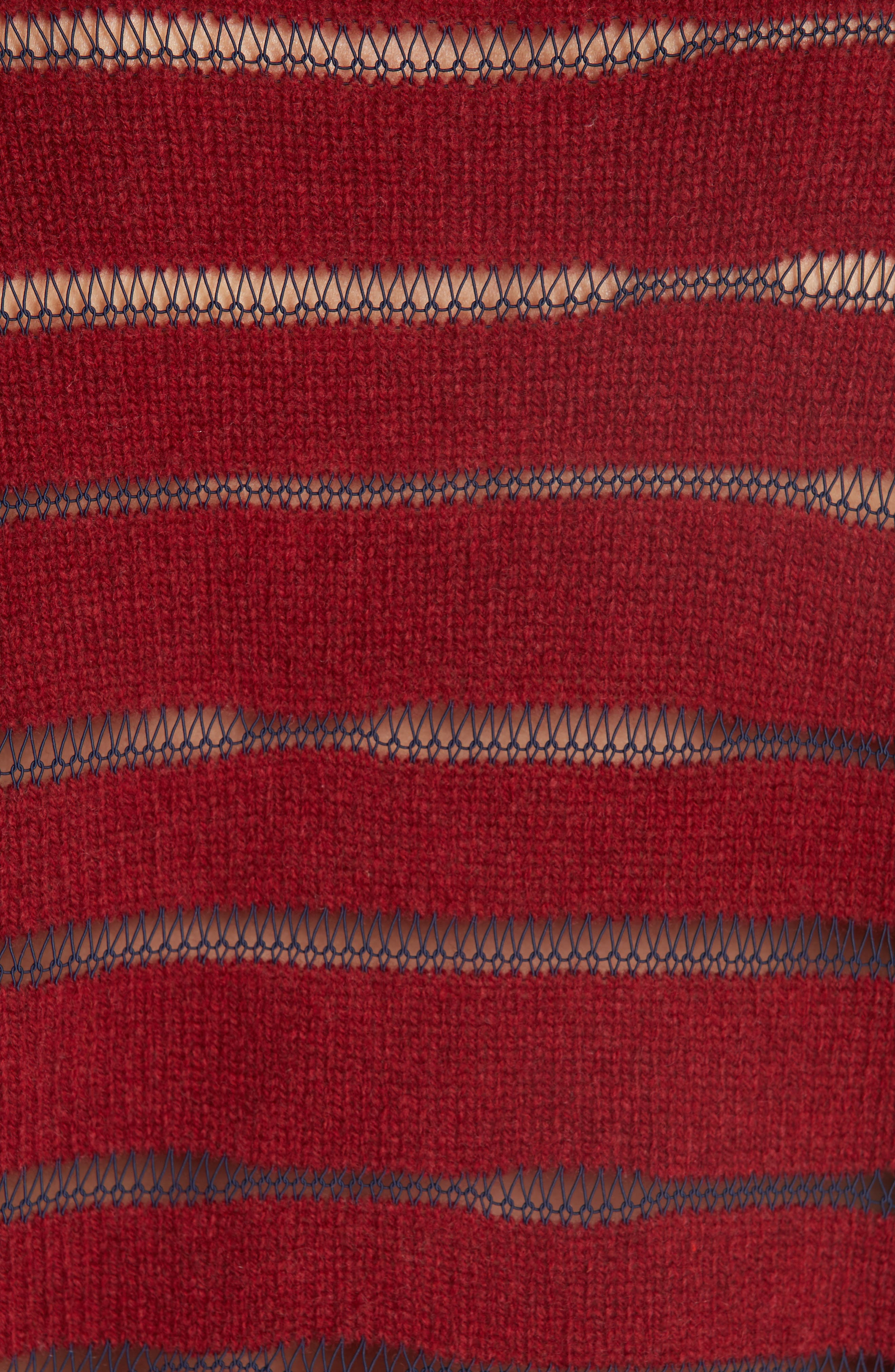 Penn Sheer Stripe Crop Sweater,                             Alternate thumbnail 5, color,                             068