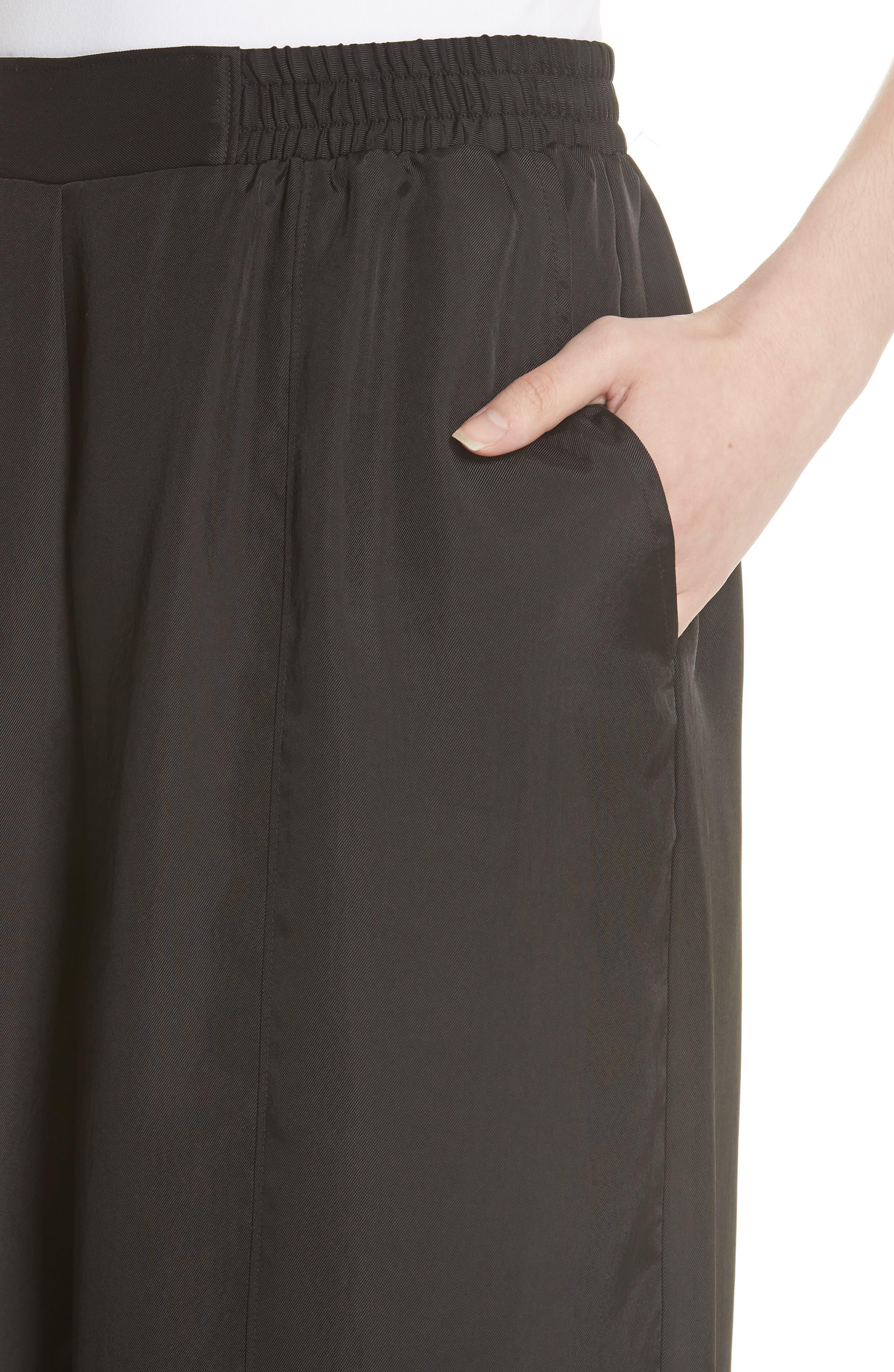 Tie Detail Crop Pants,                             Alternate thumbnail 4, color,                             001