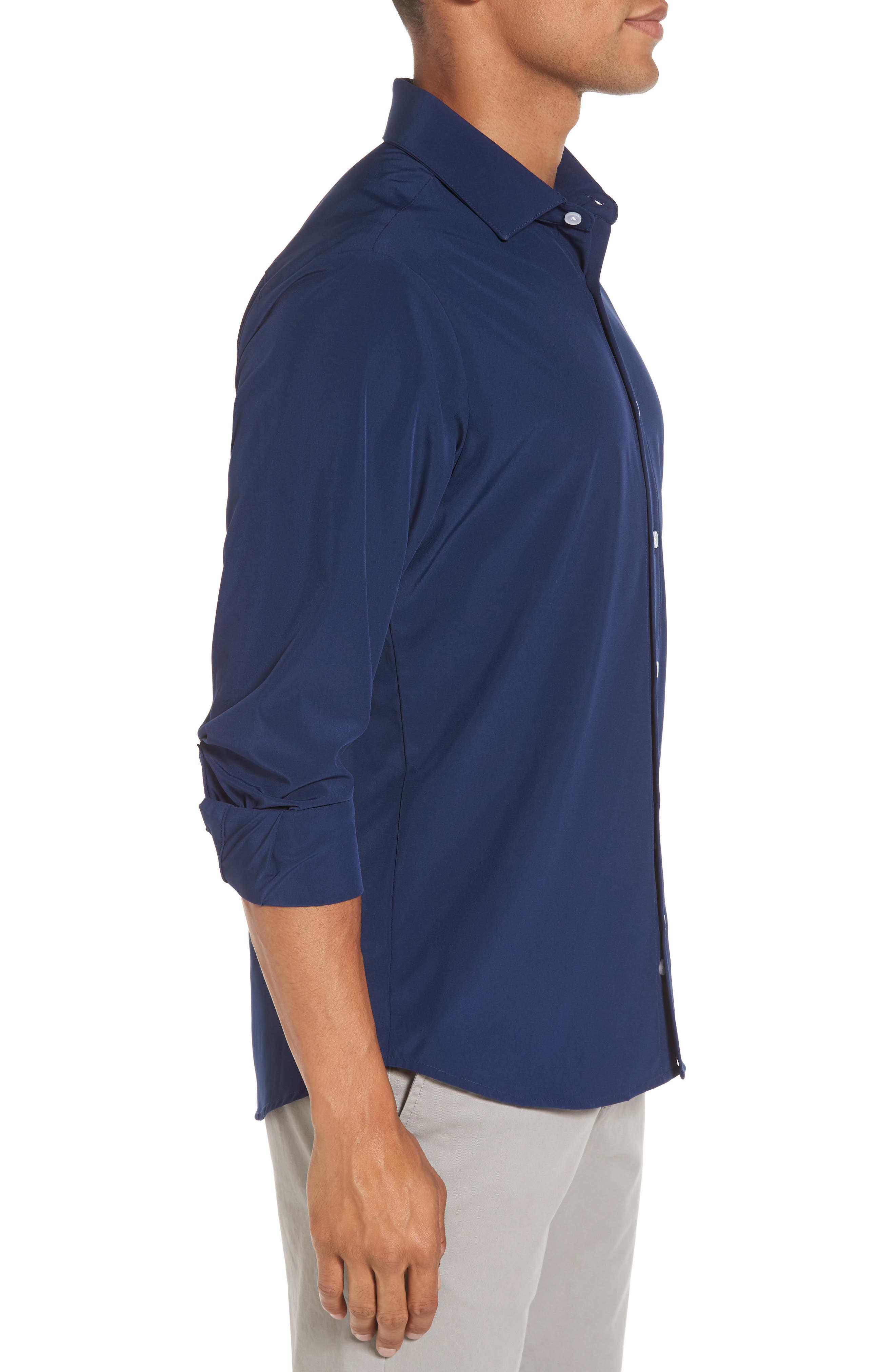Dillon Slim Fit Performance Sport Shirt,                             Alternate thumbnail 3, color,