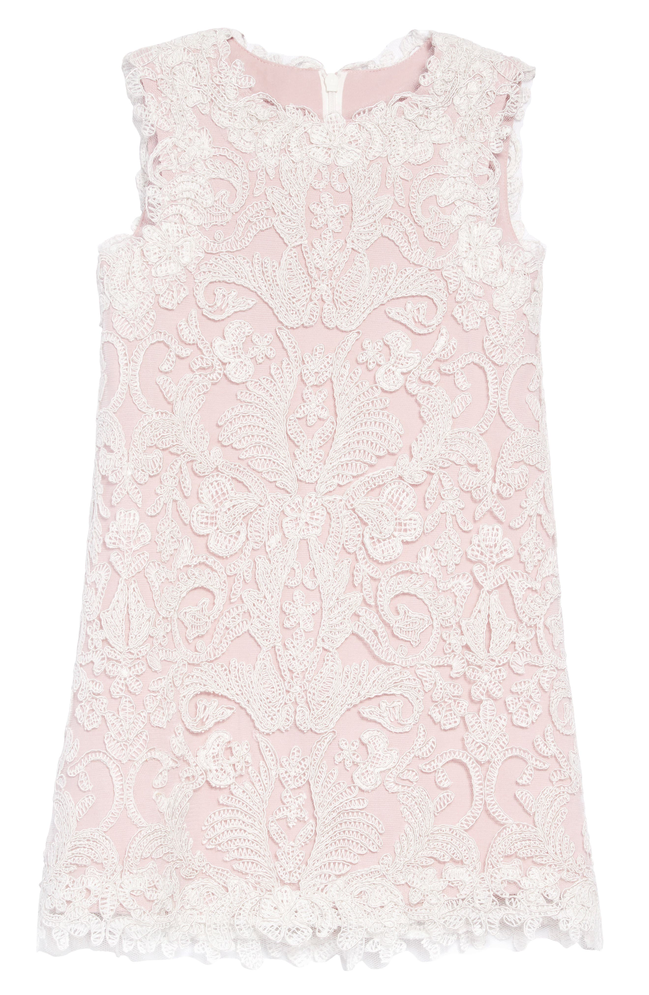 Embroidered Sheath Dress,                             Main thumbnail 1, color,                             IVORY/ PETAL
