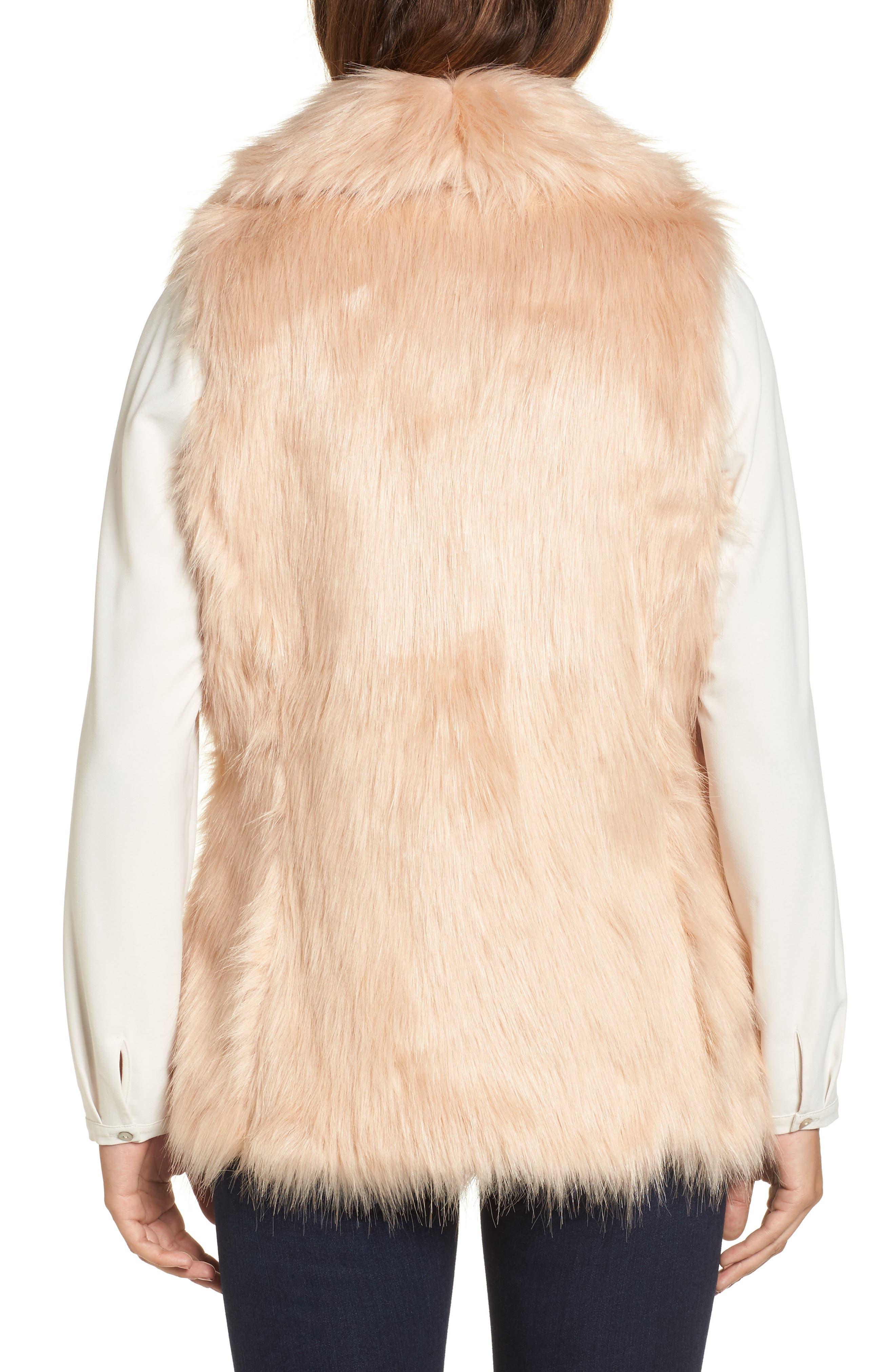 Faux Fur Vest,                             Alternate thumbnail 6, color,