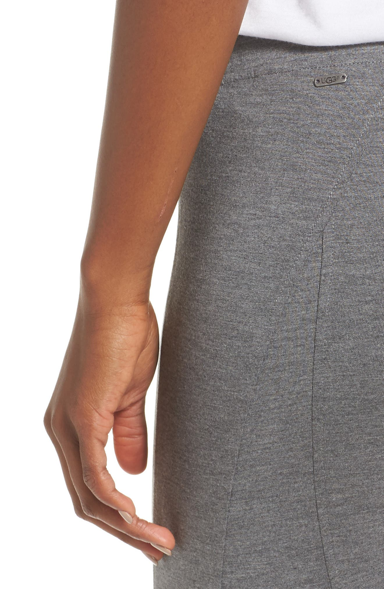 'Watts' Terry Leggings,                             Alternate thumbnail 4, color,                             CHARCOAL HEATHER
