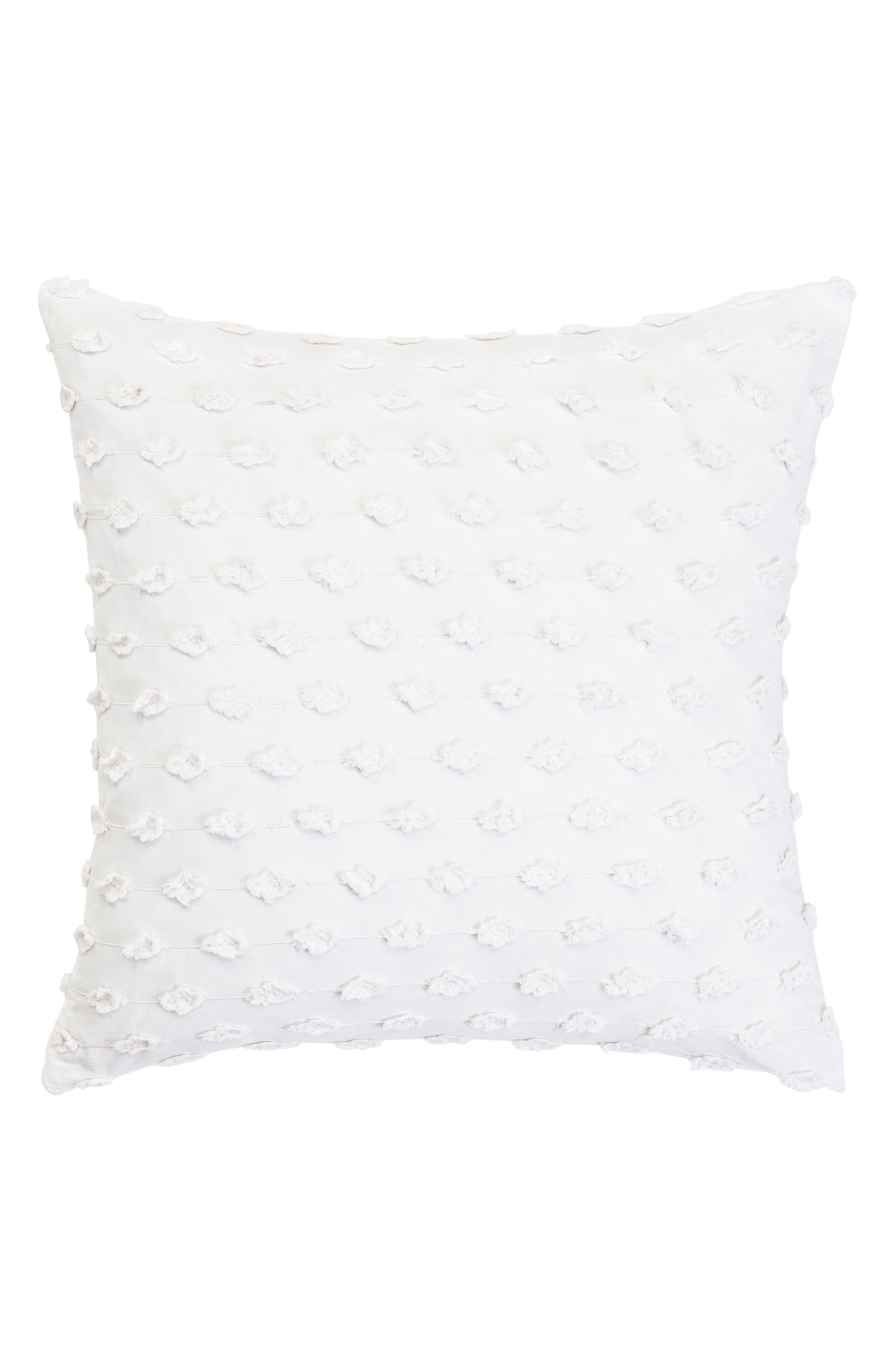 Fringe Accent Pillow,                             Main thumbnail 1, color,                             WHITE