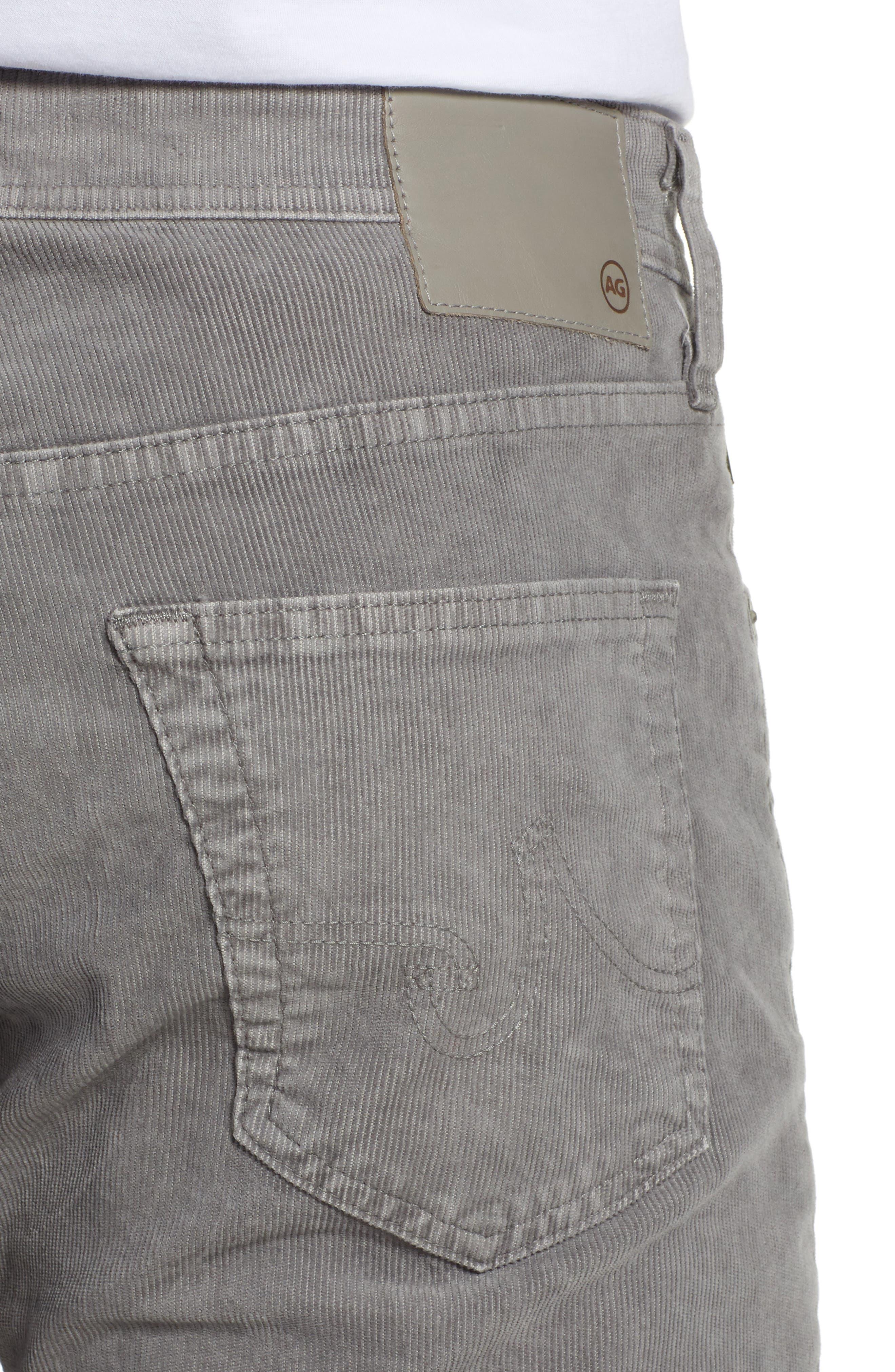 Everett Straight Leg Corduroy Pants,                             Alternate thumbnail 4, color,                             SULFUR AUTUMN FOG