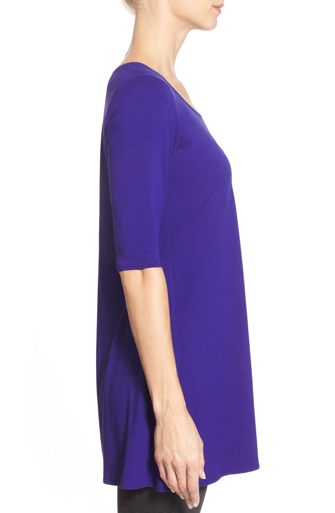 Scoop Neck Elbow Sleeve Jersey Tunic,                             Alternate thumbnail 24, color,