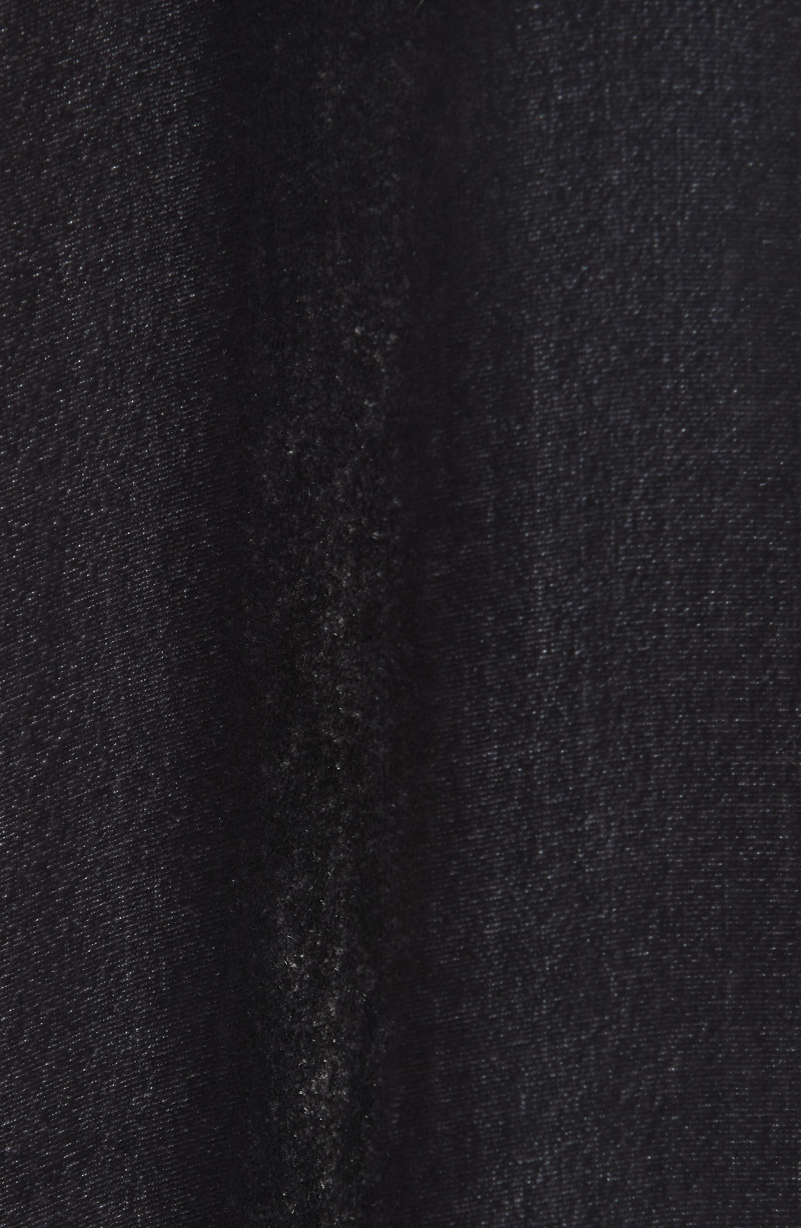 Angled Front Velvet Jacket,                             Alternate thumbnail 7, color,                             CHARCOAL