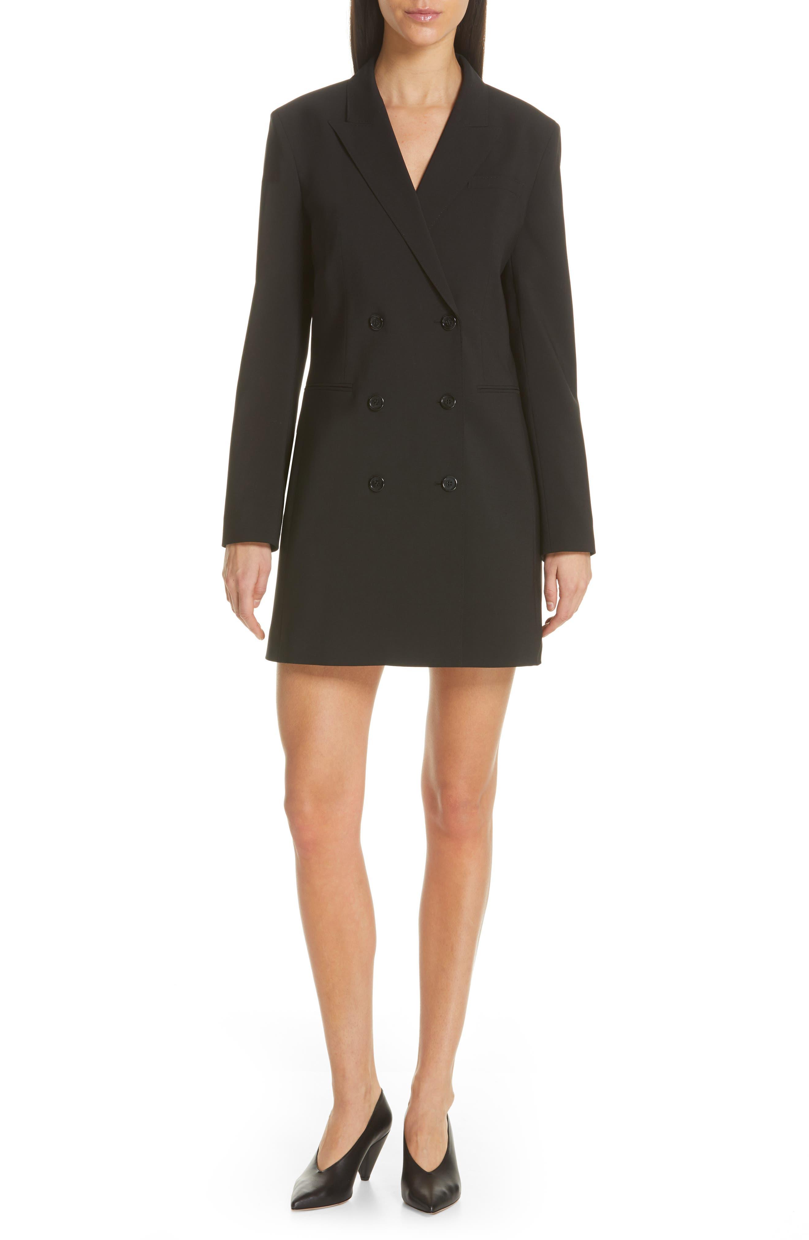 Akasa Blazer Dress, Main, color, BLACK