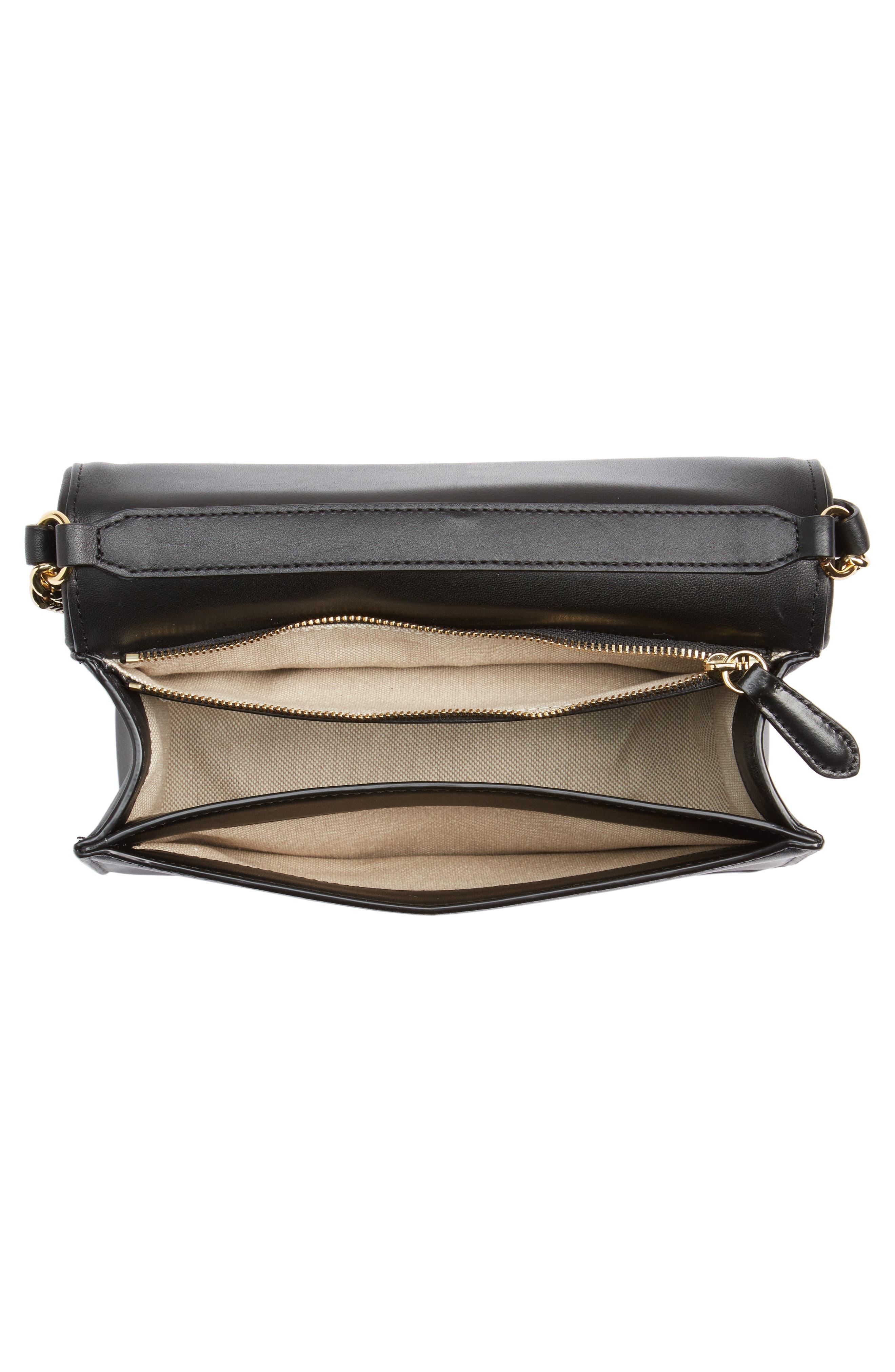 Bonne Soirée Quilted Top Handle Bag,                             Alternate thumbnail 4, color,                             001