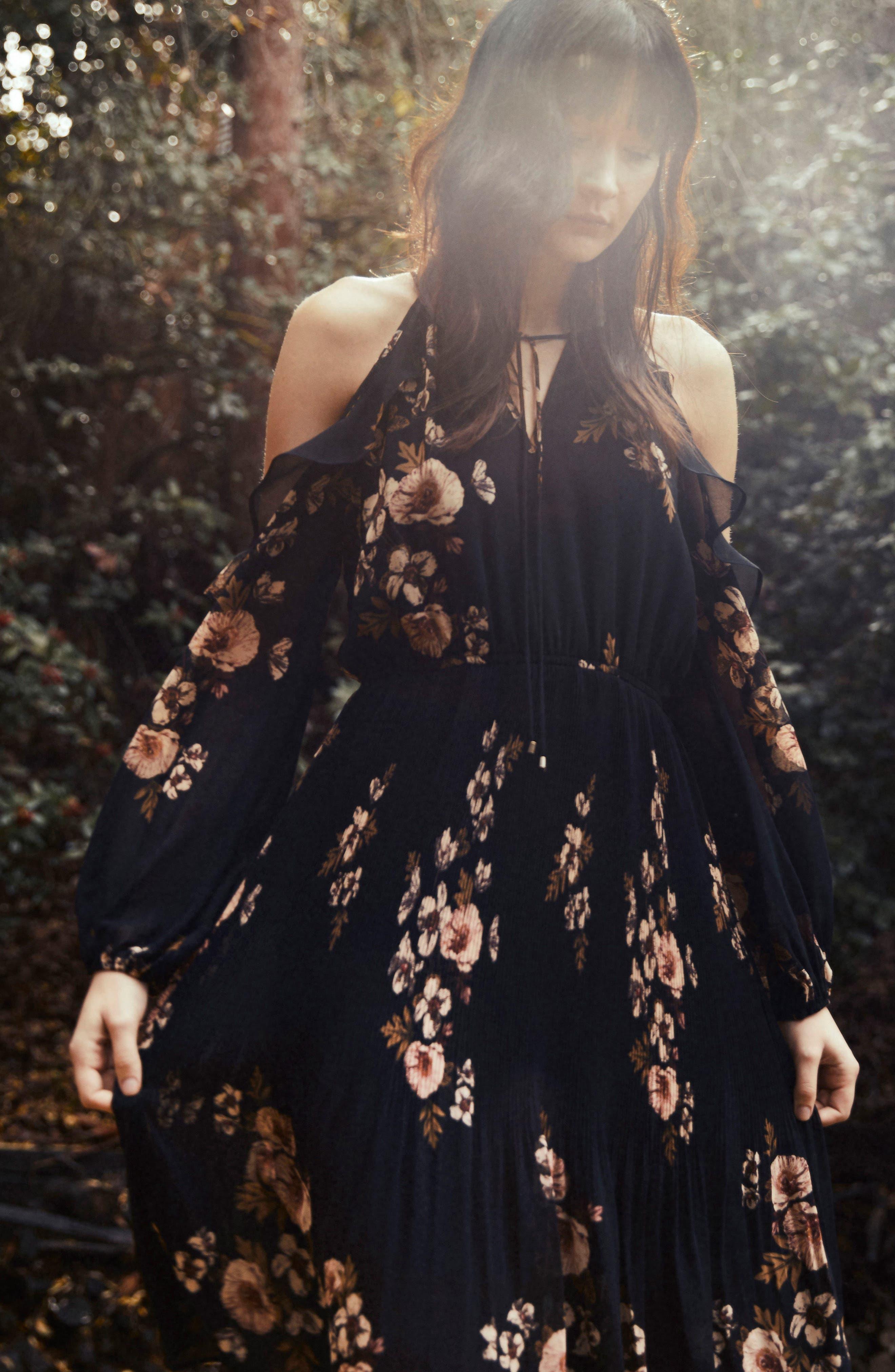 Persephone Cold Shoulder Dress,                             Alternate thumbnail 8, color,