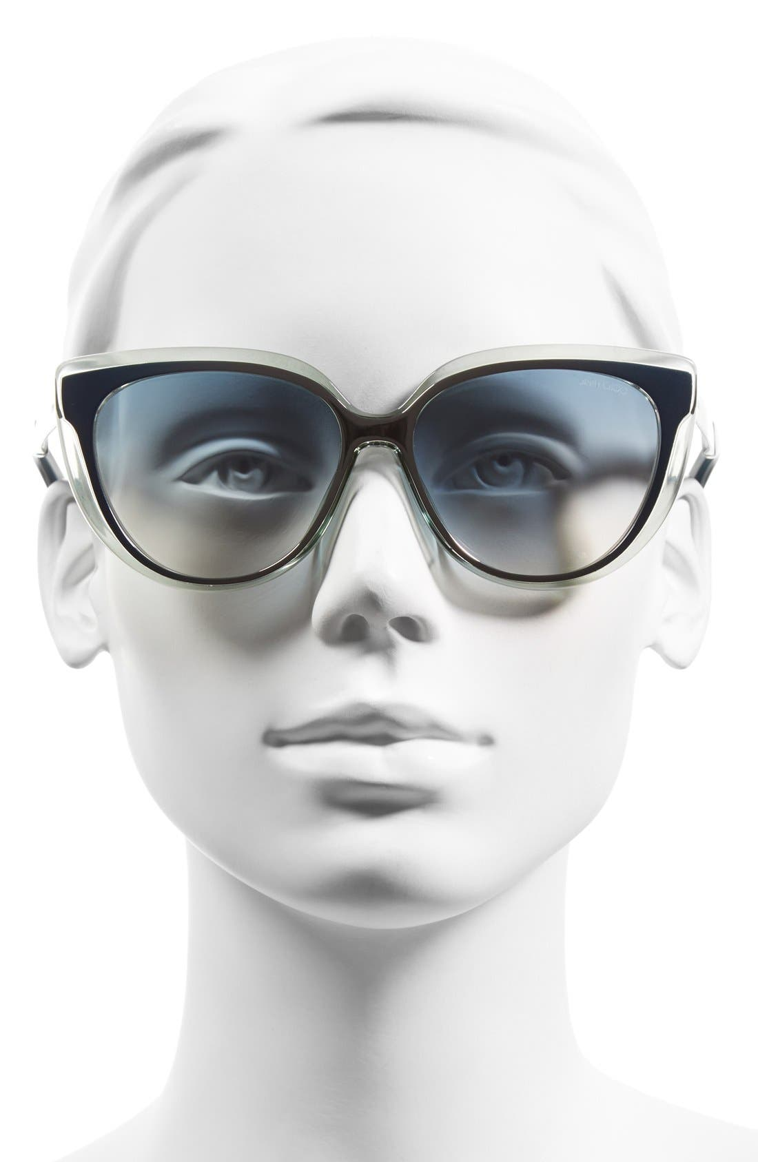 'Cindy' 57mm Retro Sunglasses,                             Alternate thumbnail 8, color,