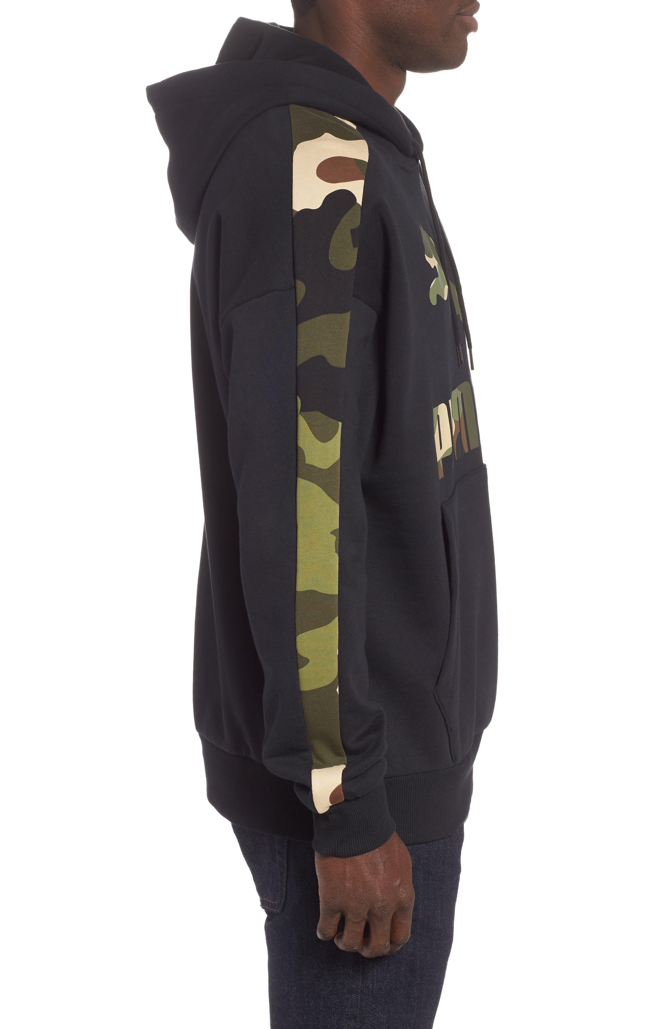Wild Pack Track Hooded Sweatshirt,                             Alternate thumbnail 3, color,                             PUMA BLACK