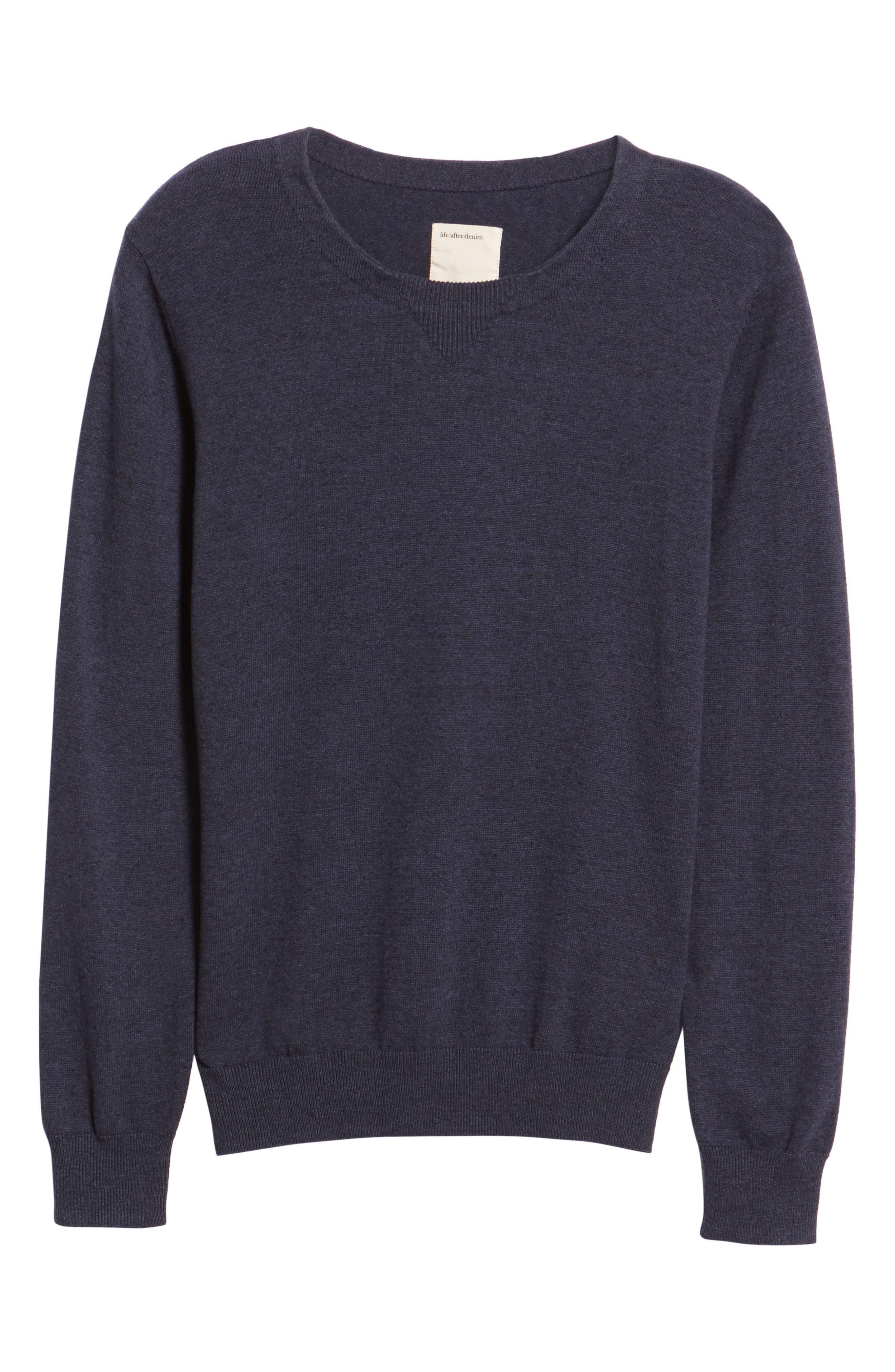 McGill Slim Fit Crewneck Sweater,                             Alternate thumbnail 6, color,                             HEATHER NAVY