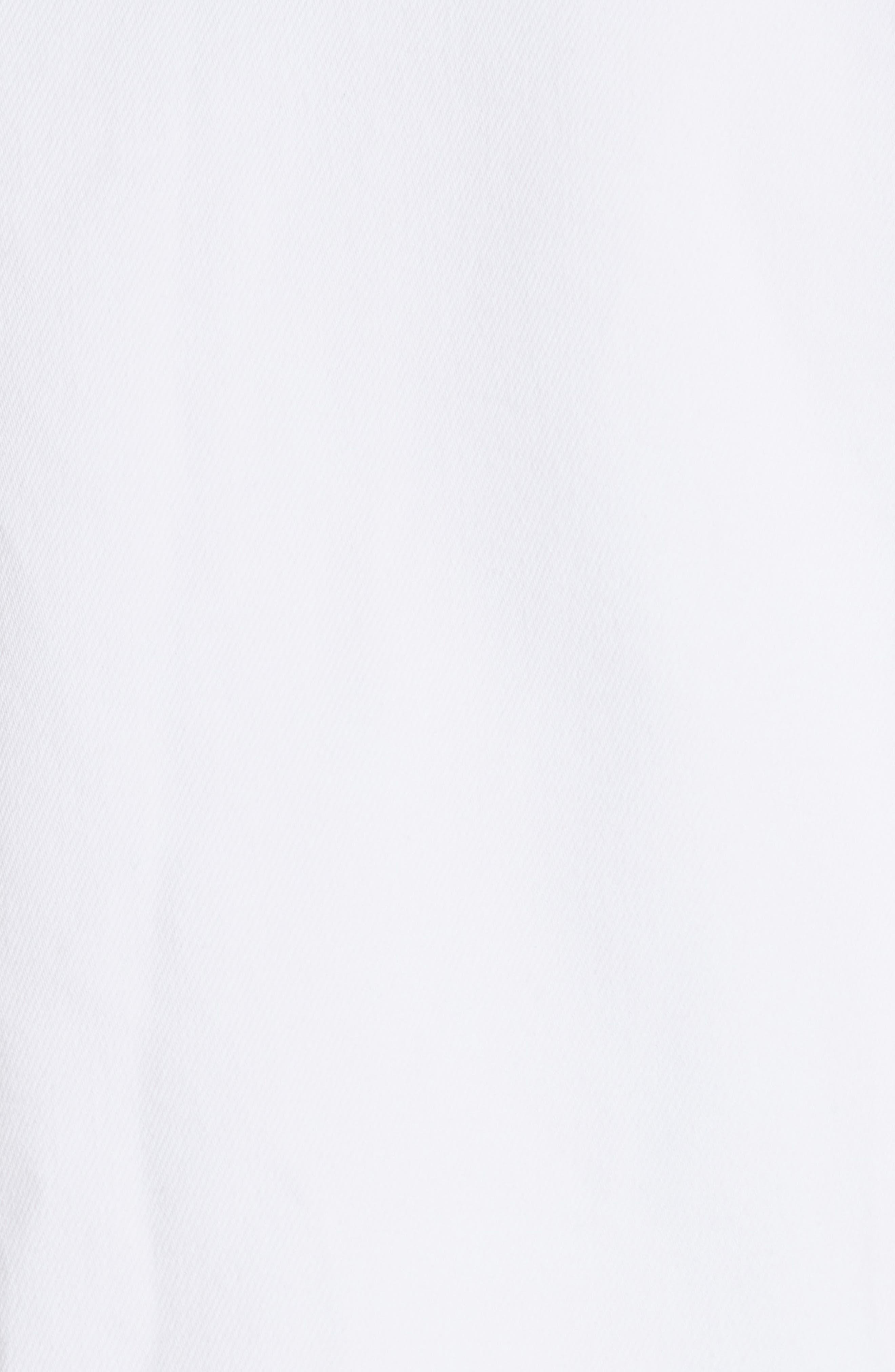 3X1 NYC,                             Oversize Denim Trucker Jacket,                             Alternate thumbnail 6, color,                             WINTER WHITE