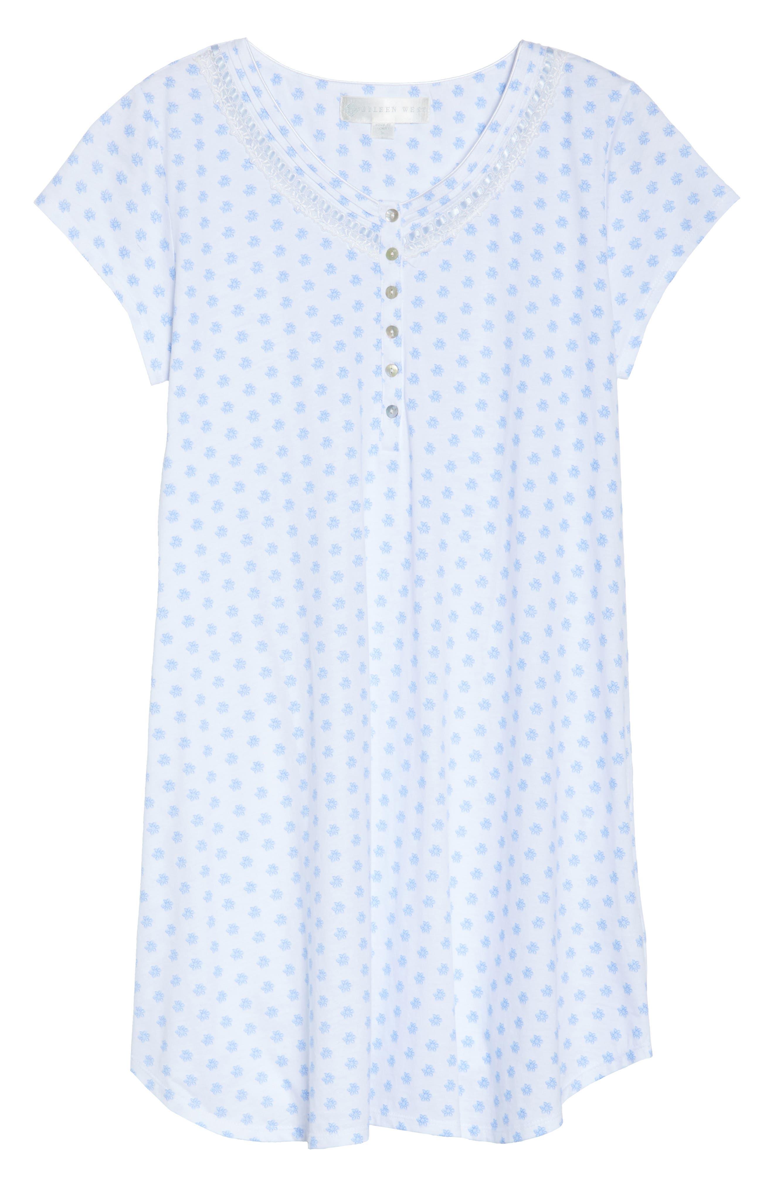 Jersey Sleep Shirt,                             Alternate thumbnail 6, color,