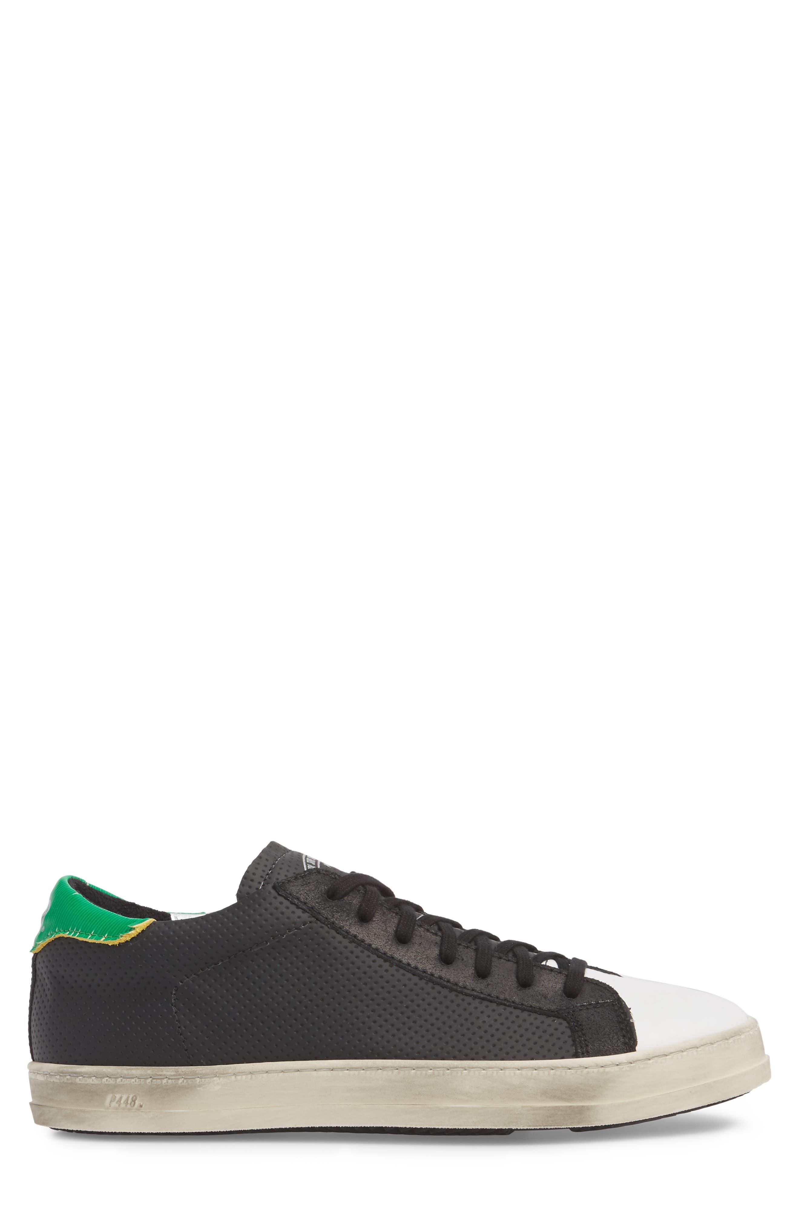 John Low Top Sneaker,                             Alternate thumbnail 3, color,                             BLACK
