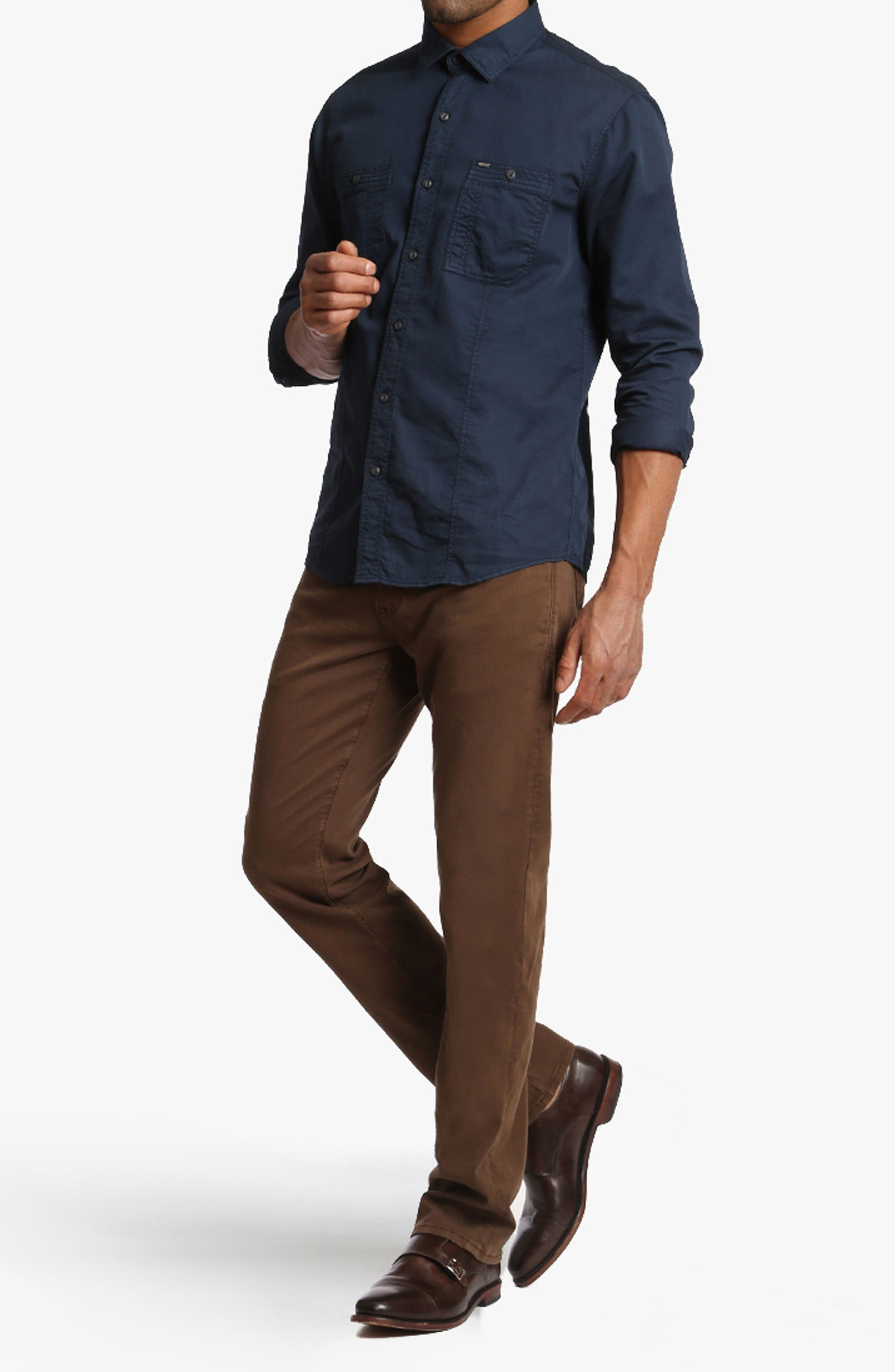 Courage Straight Leg Twill Pants,                             Alternate thumbnail 7, color,                             200