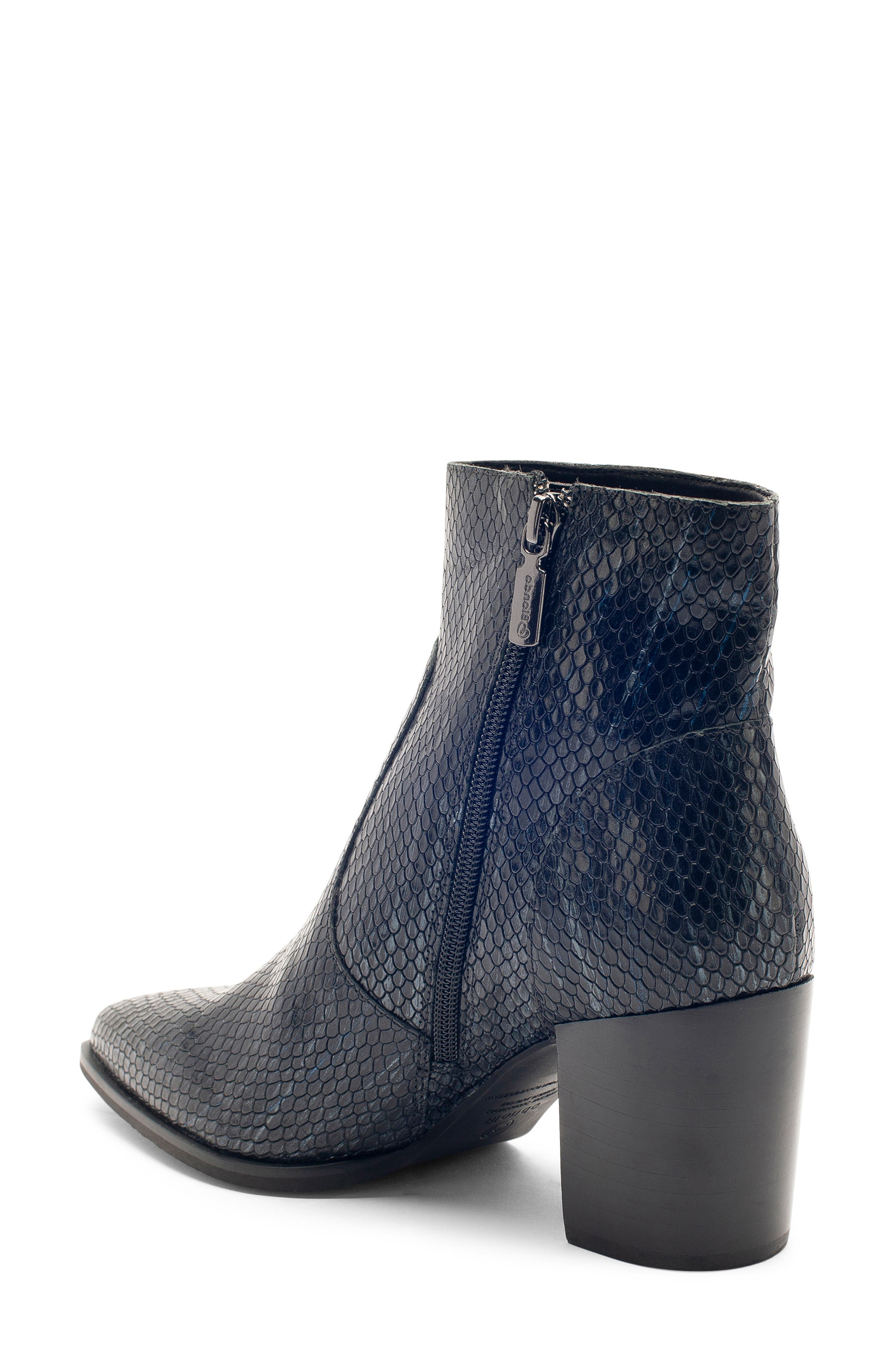 Tania Waterproof Bootie,                             Alternate thumbnail 2, color,                             BLACK SNAKE LEATHER
