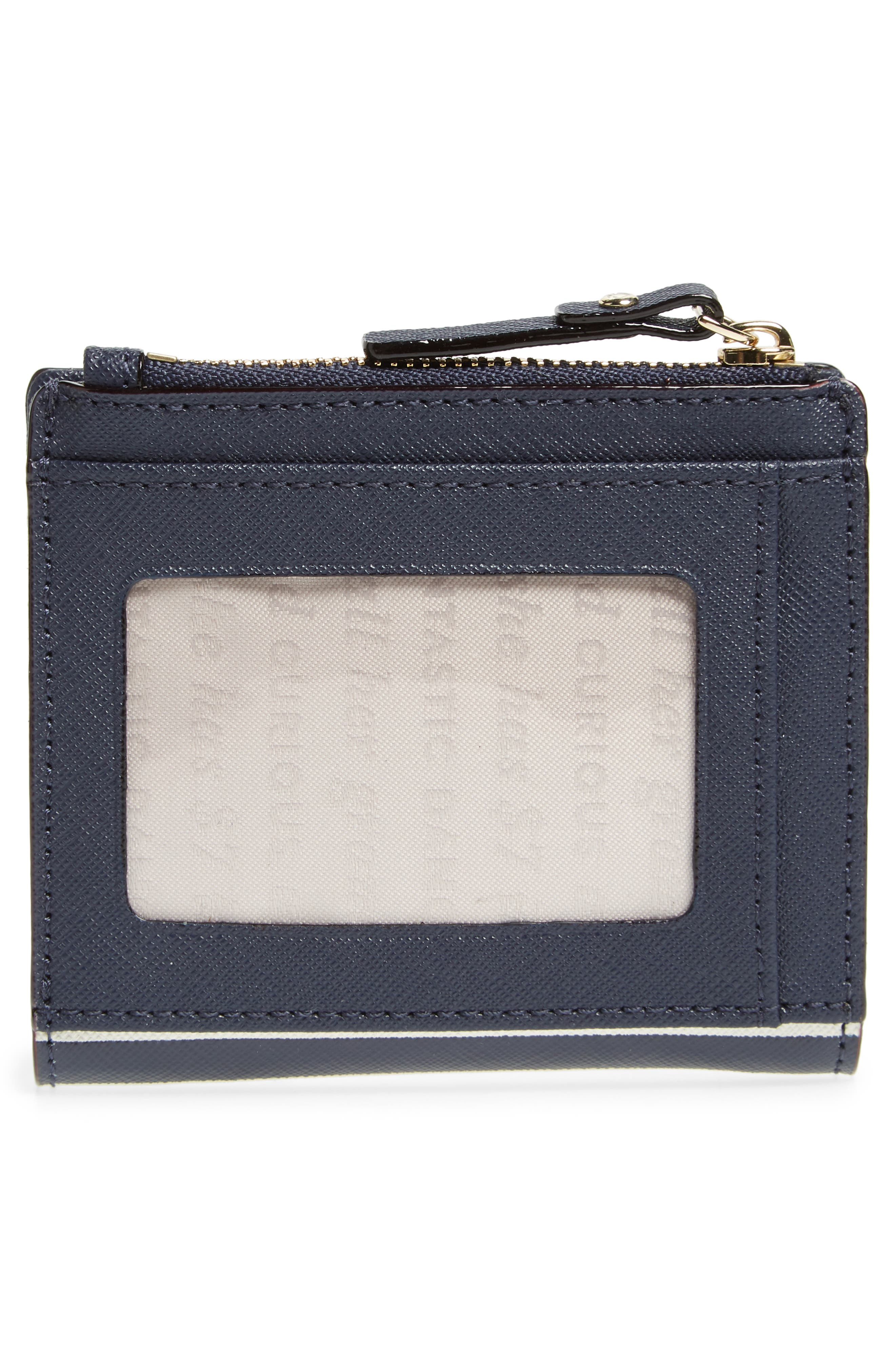 shore thing - stripe adalyn leather wallet,                             Alternate thumbnail 4, color,                             600