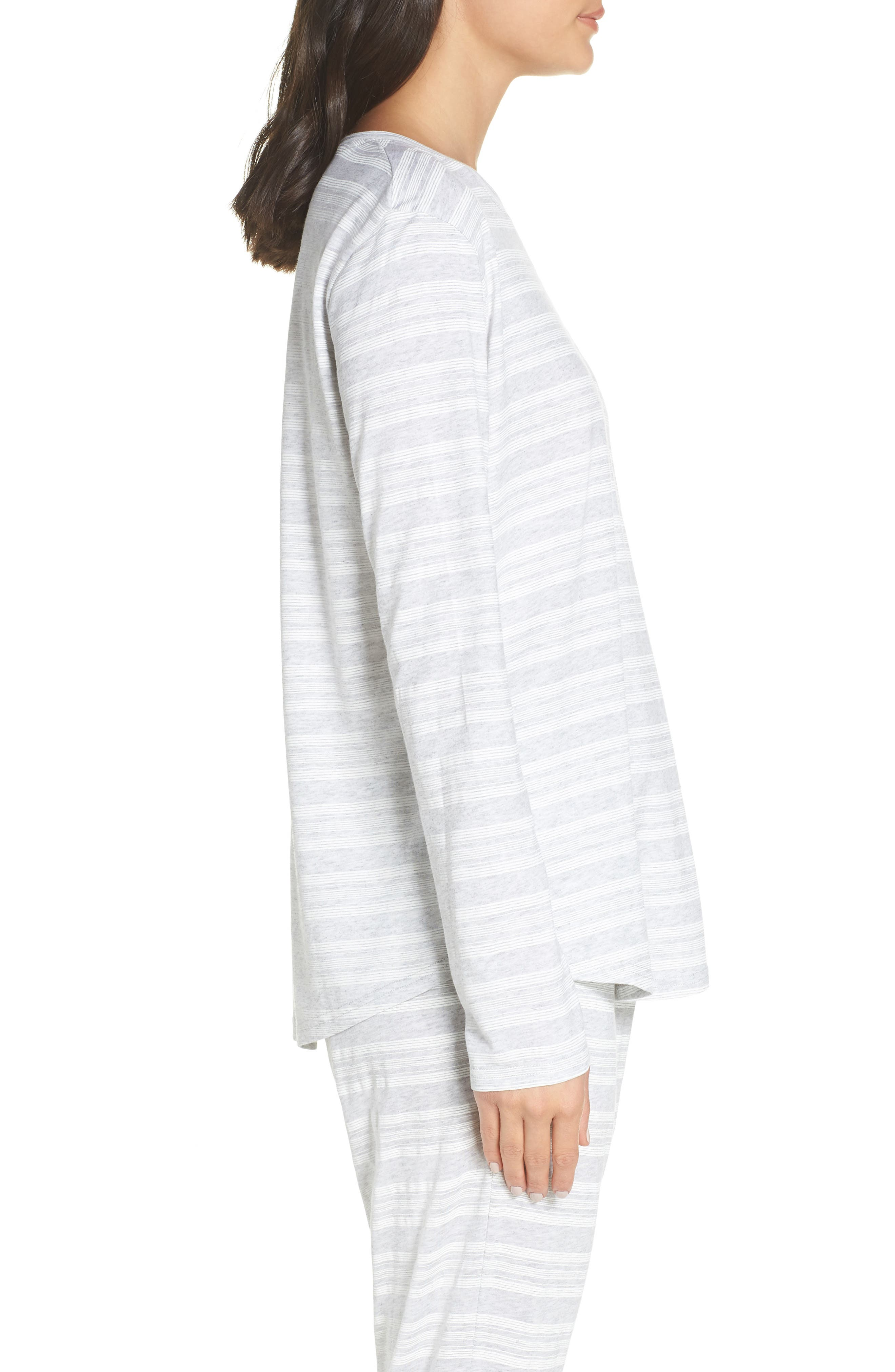 CHALMERS,                             Issy Pajama Top,                             Alternate thumbnail 3, color,                             LOLLY STRIPE WHITE