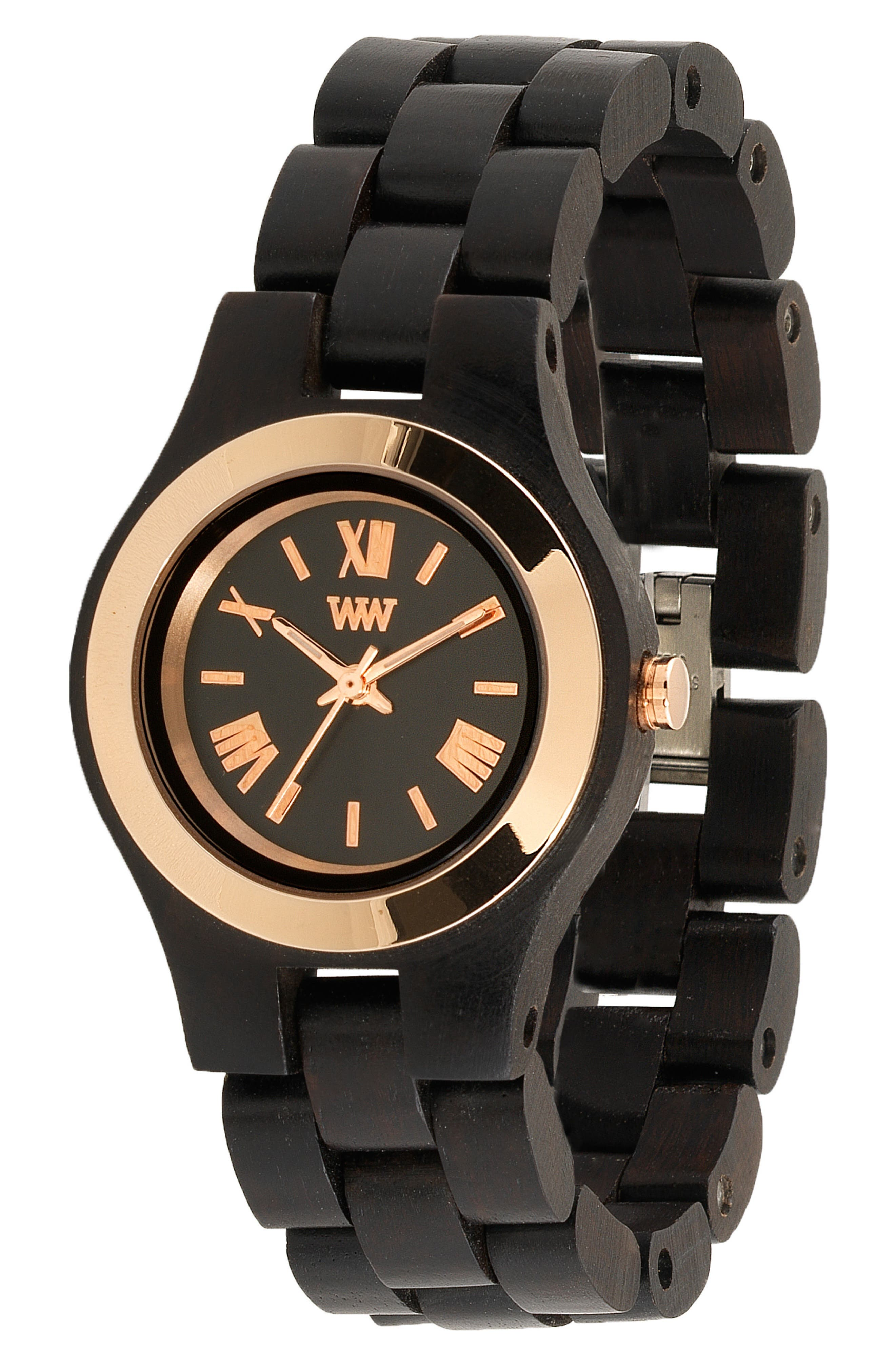 Criss Wood Bracelet Watch, 31mm,                             Alternate thumbnail 3, color,                             001