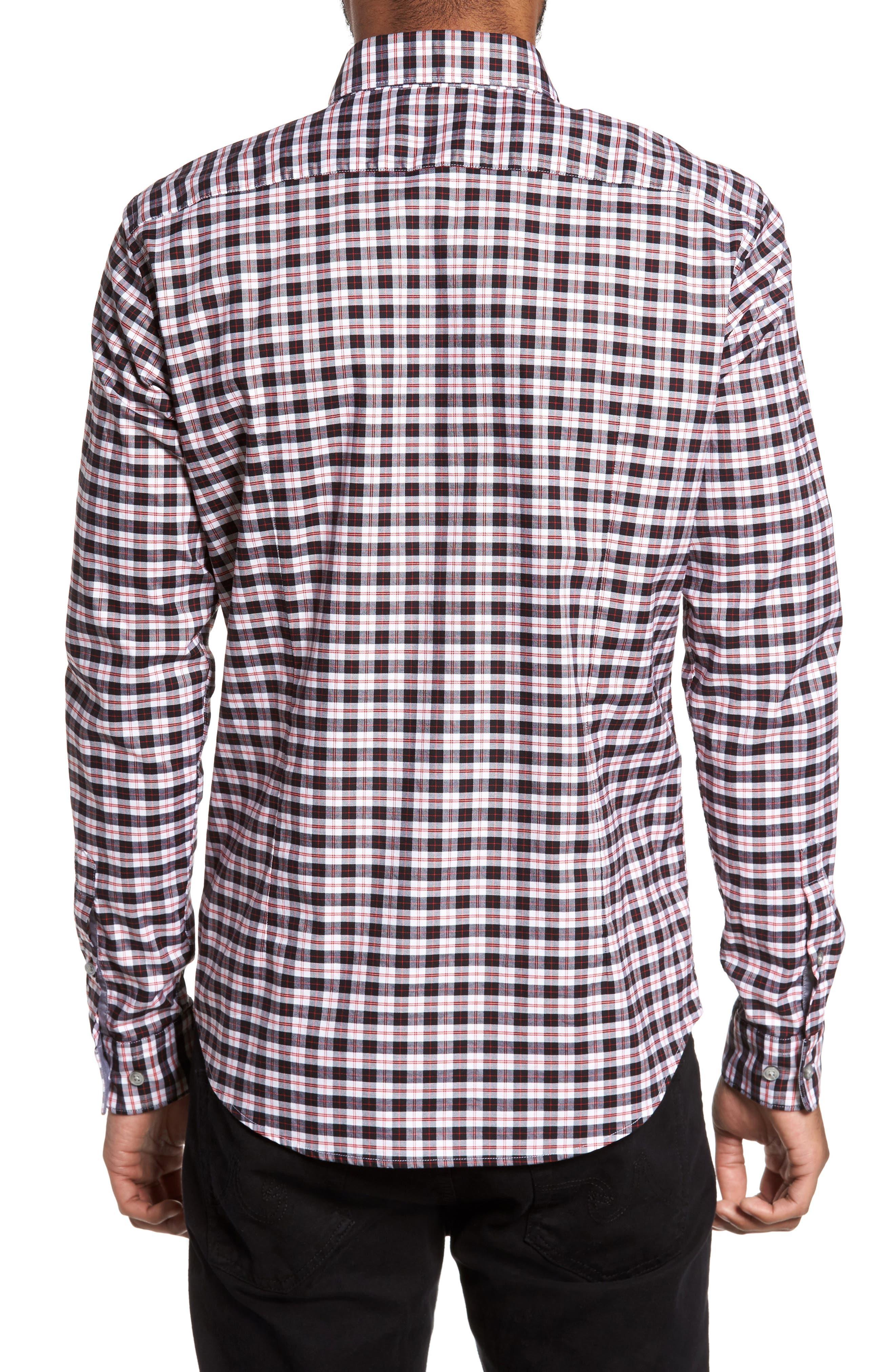 Rod Trim Fit Check Oxford Sport Shirt,                             Alternate thumbnail 2, color,                             001