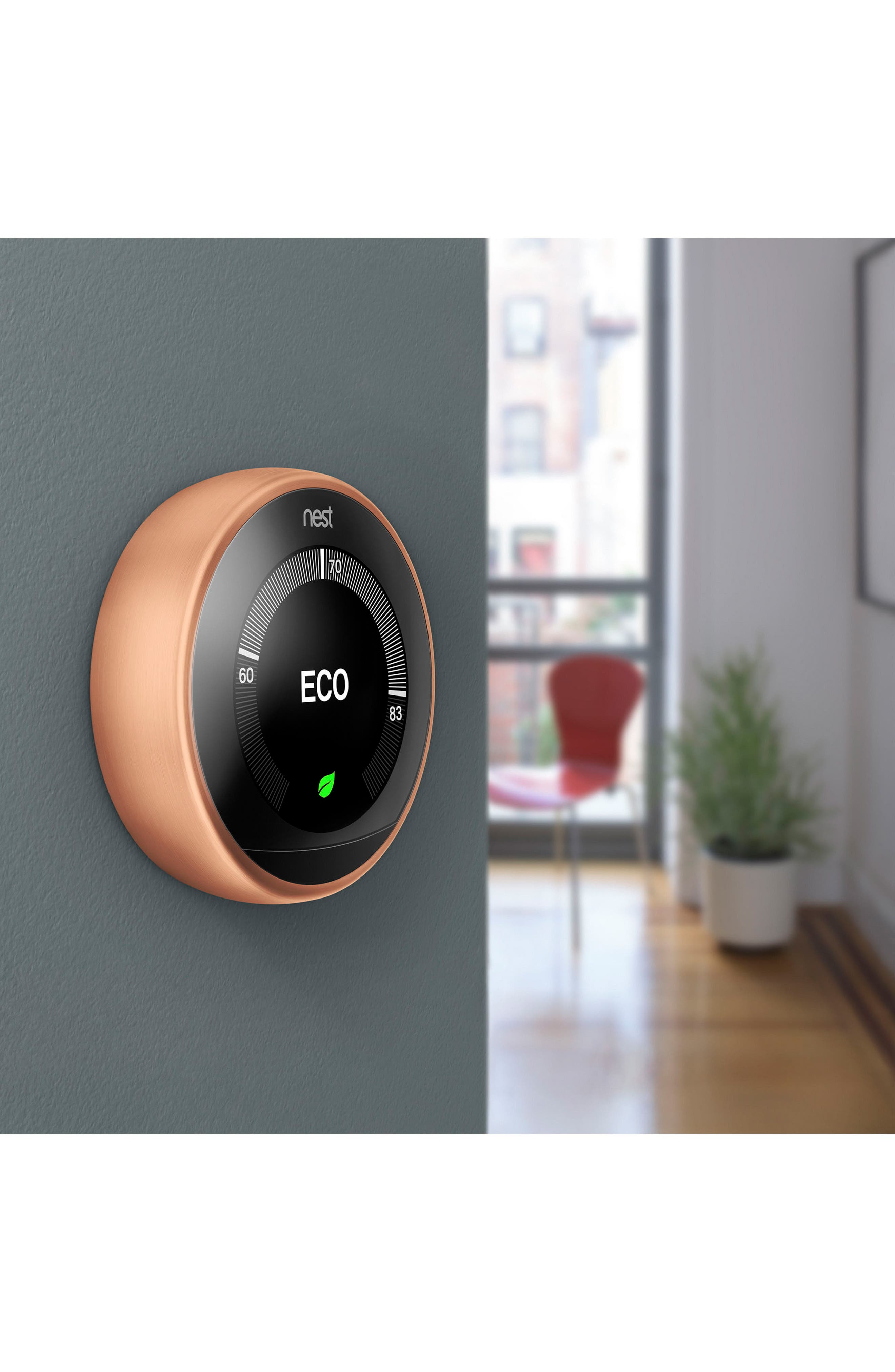 Learning Thermostat,                             Alternate thumbnail 4, color,                             COPPER