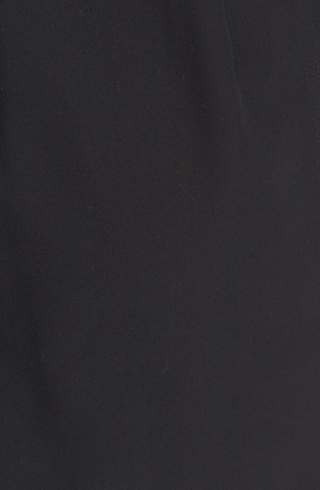 Kensington Mid Trench Coat,                             Alternate thumbnail 3, color,                             BLACK