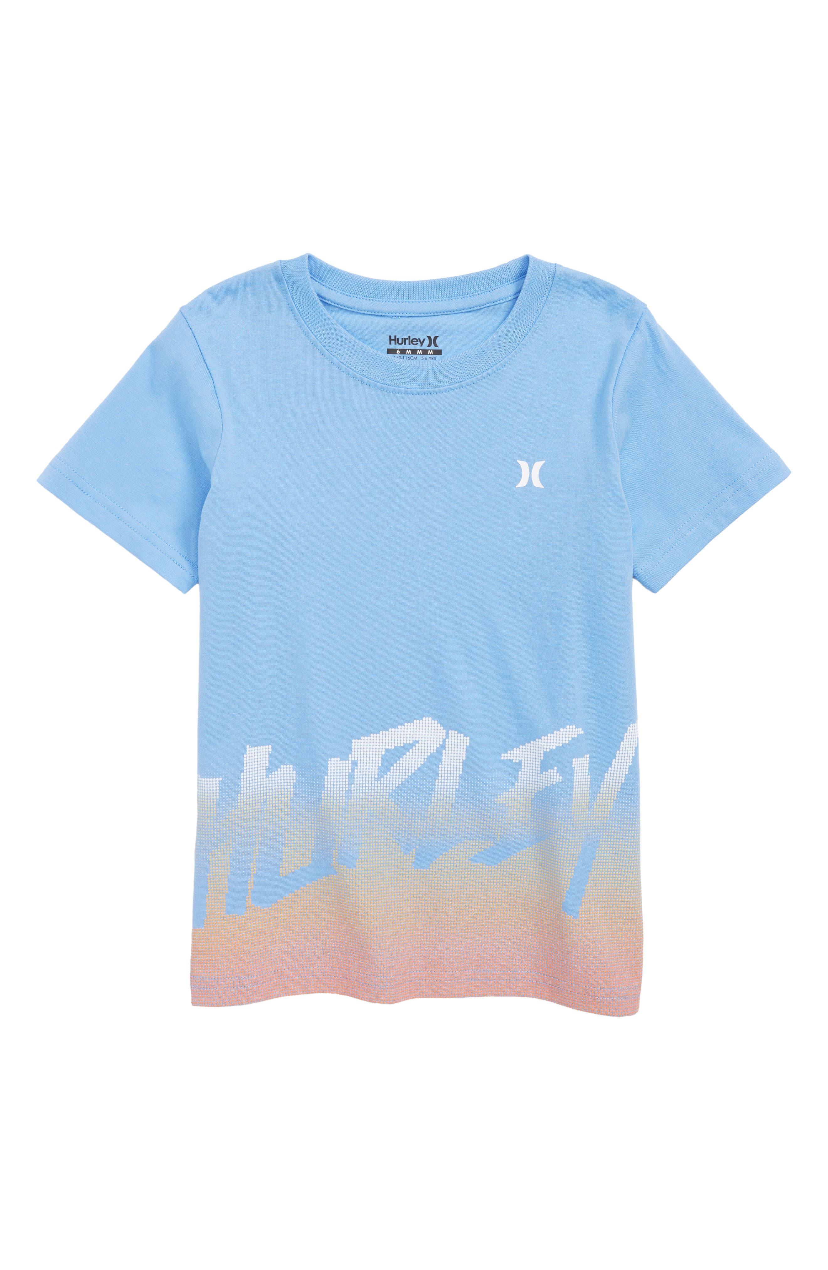 Bitmapped T-Shirt,                         Main,                         color, LIGHT BLUE