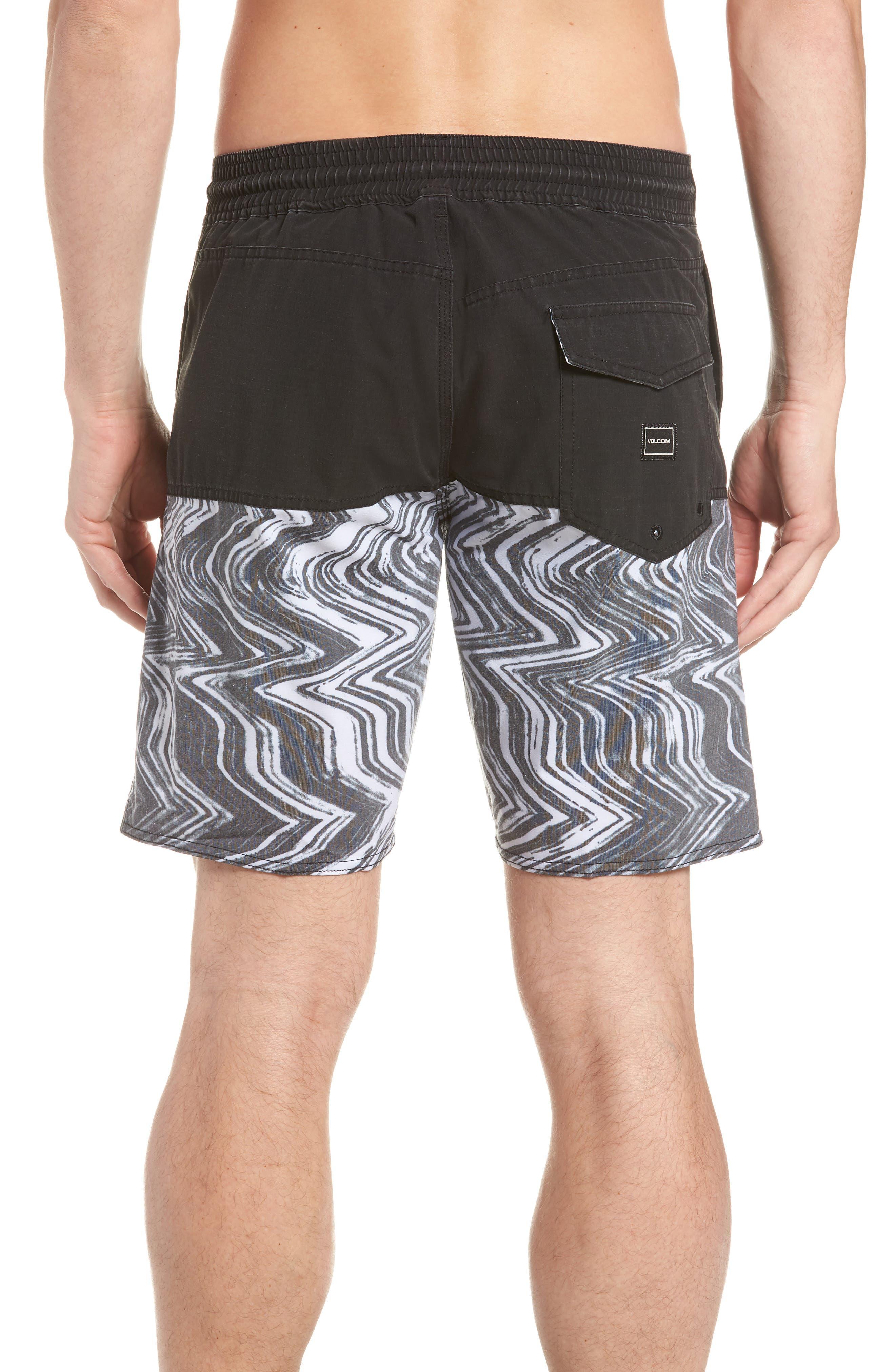 Vibes Half Stoney Board Shorts,                             Alternate thumbnail 2, color,                             BLACK