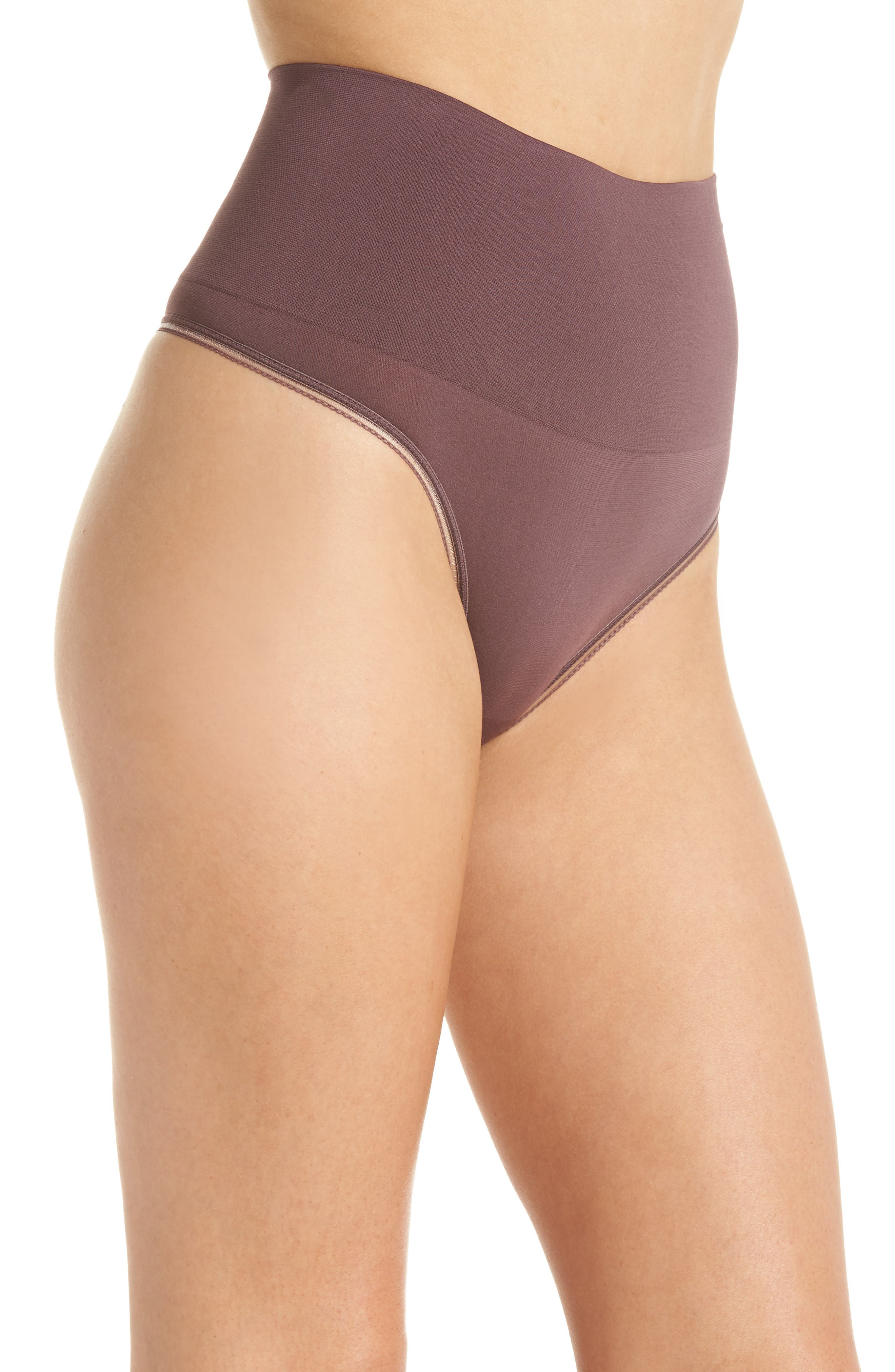 Ultralight Seamless Shaping Thong,                             Alternate thumbnail 3, color,                             HUCKLEBERRY