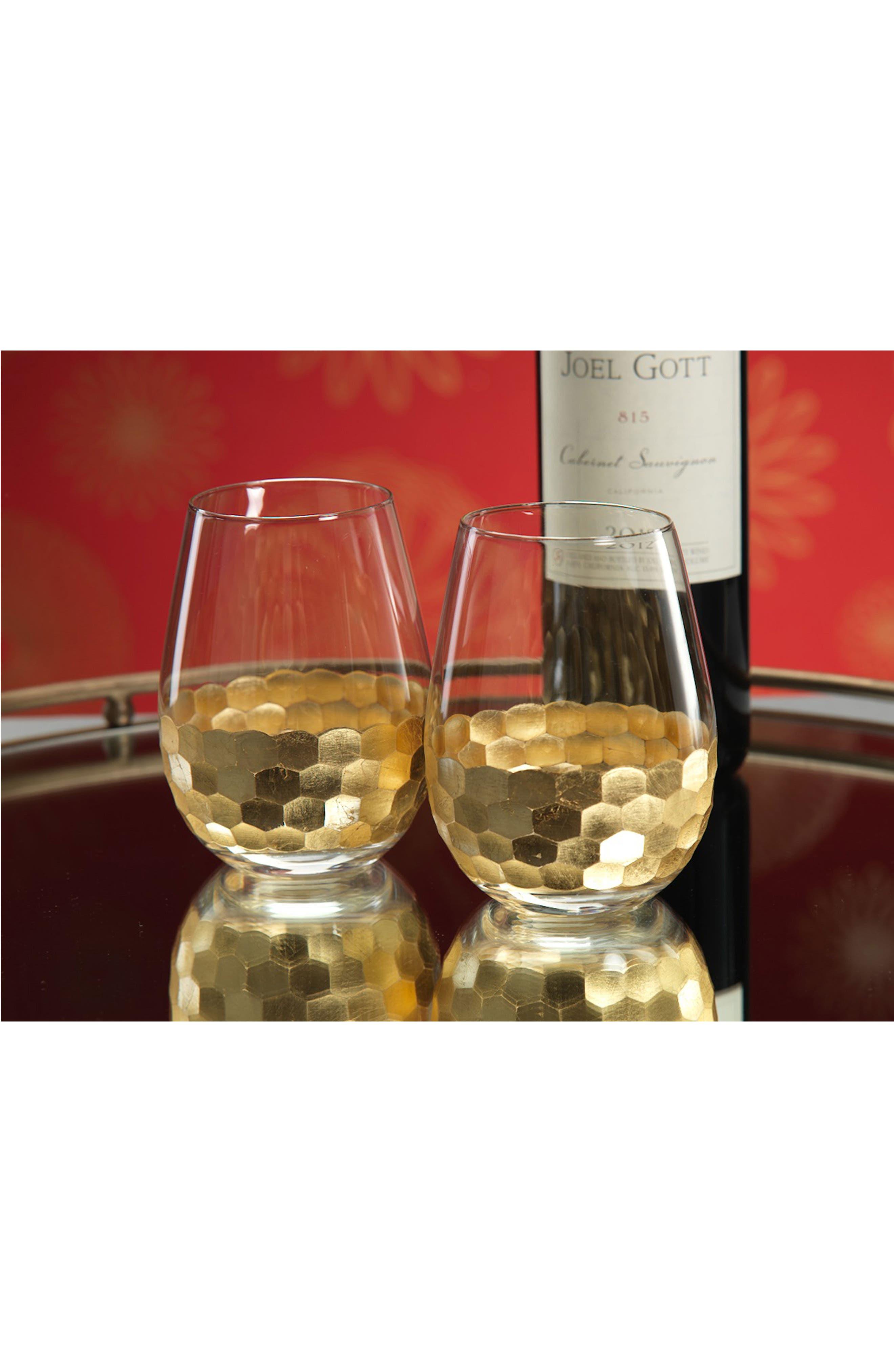 Vitorrio Set of 6 Stemless Wine Glasses,                             Alternate thumbnail 3, color,                             040