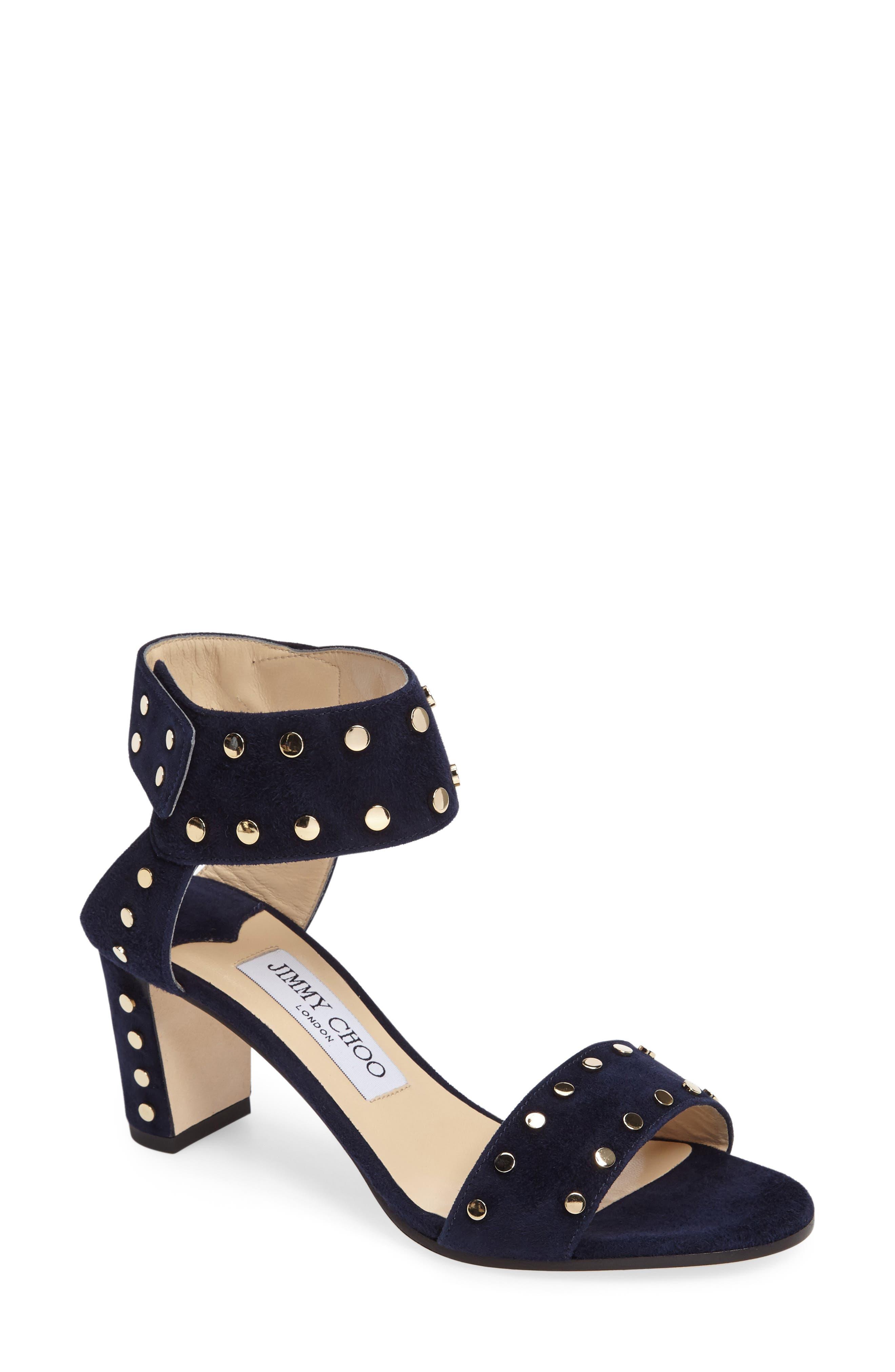 'Veto' Studded Sandal,                             Main thumbnail 4, color,