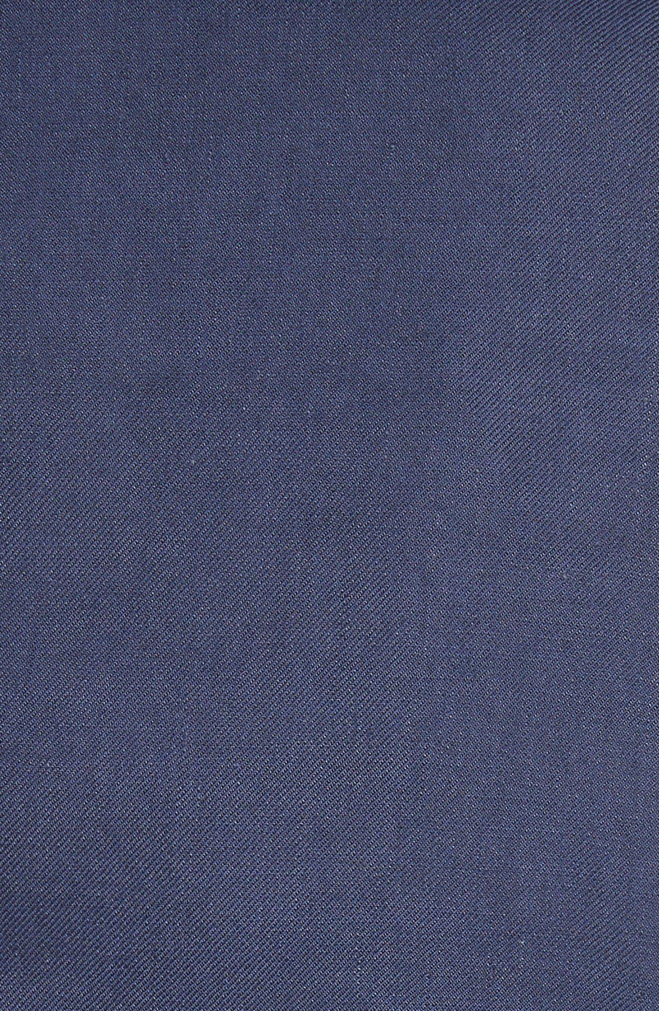 Piped Linen & Cotton Blend Blazer,                             Alternate thumbnail 6, color,