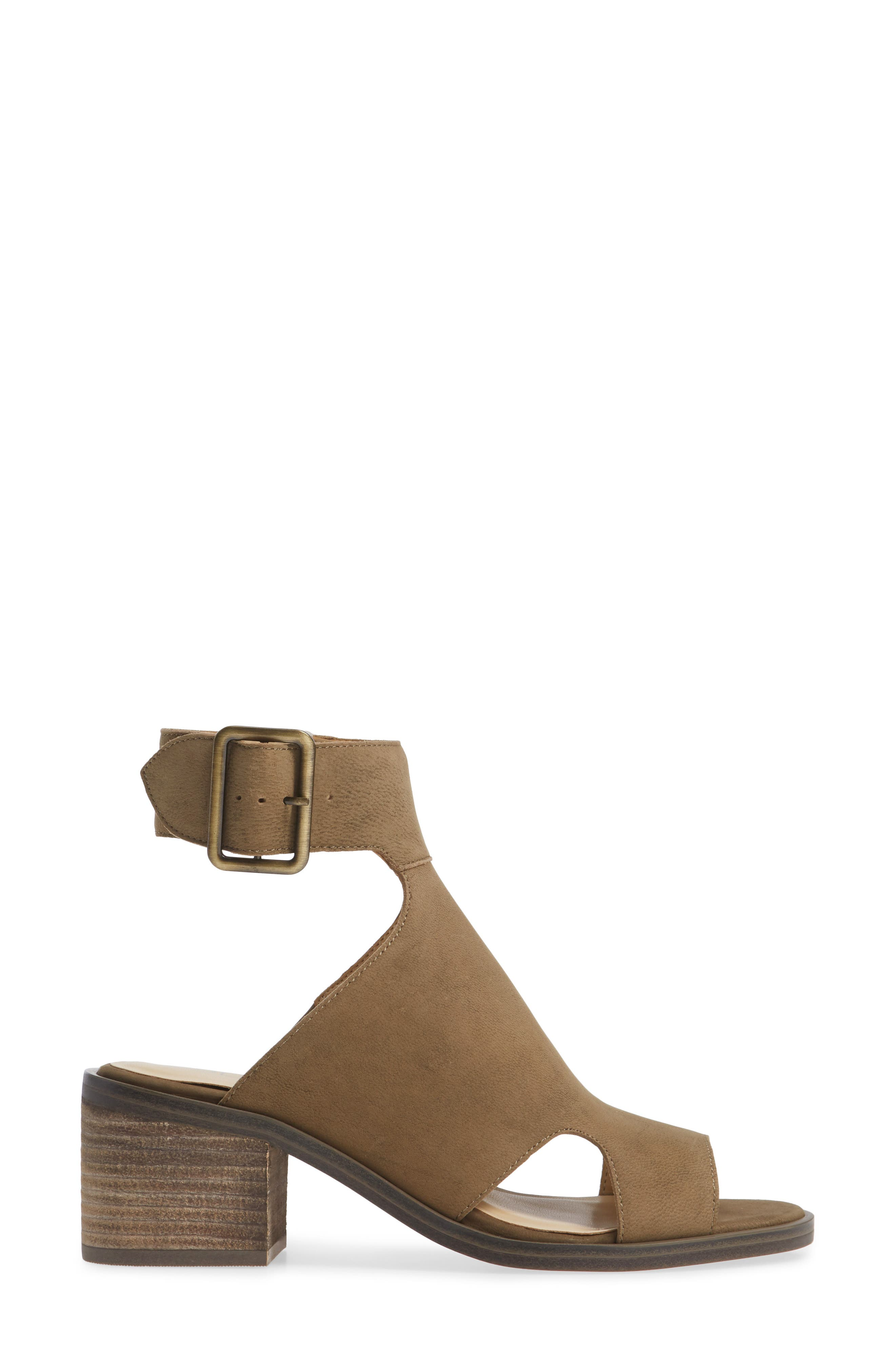Tally Ankle Cuff Sandal,                             Alternate thumbnail 3, color,                             ANTIQUE GREEN NUBUCK