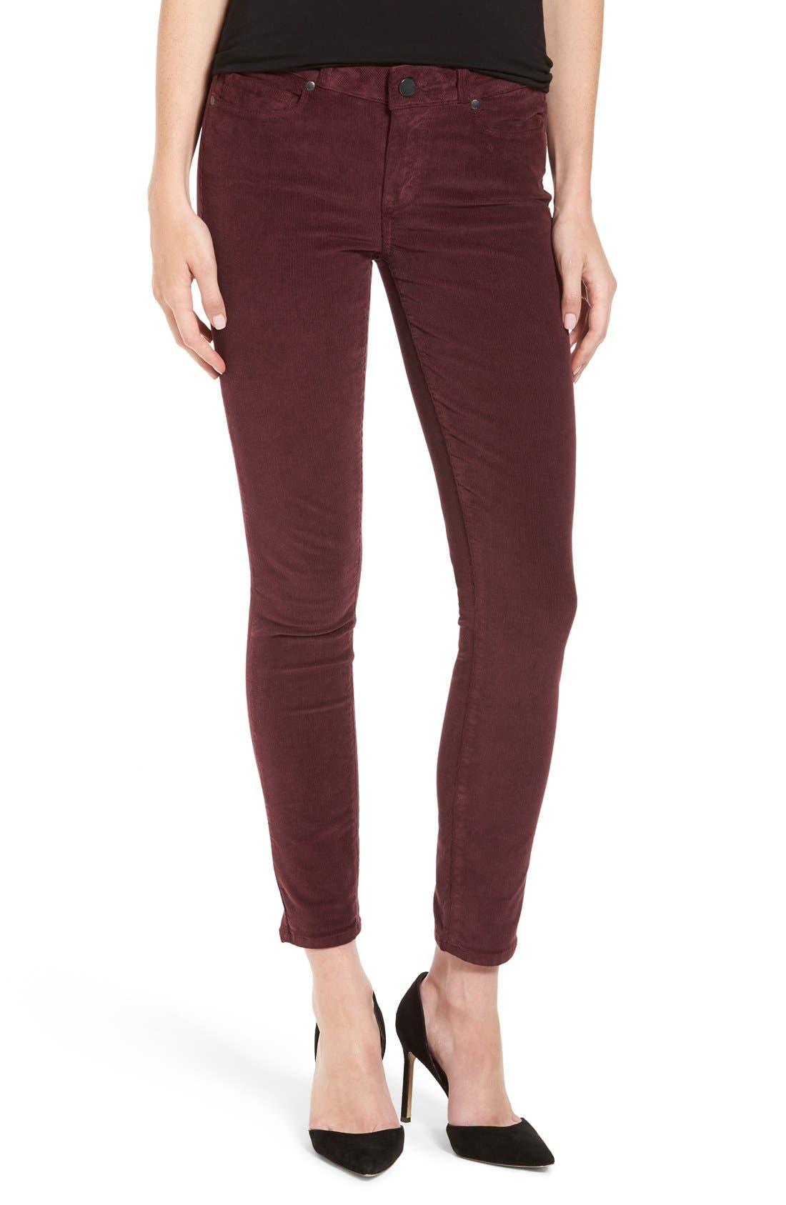 'Verdugo' Ankle Skinny Corduroy Pants, Main, color, 500