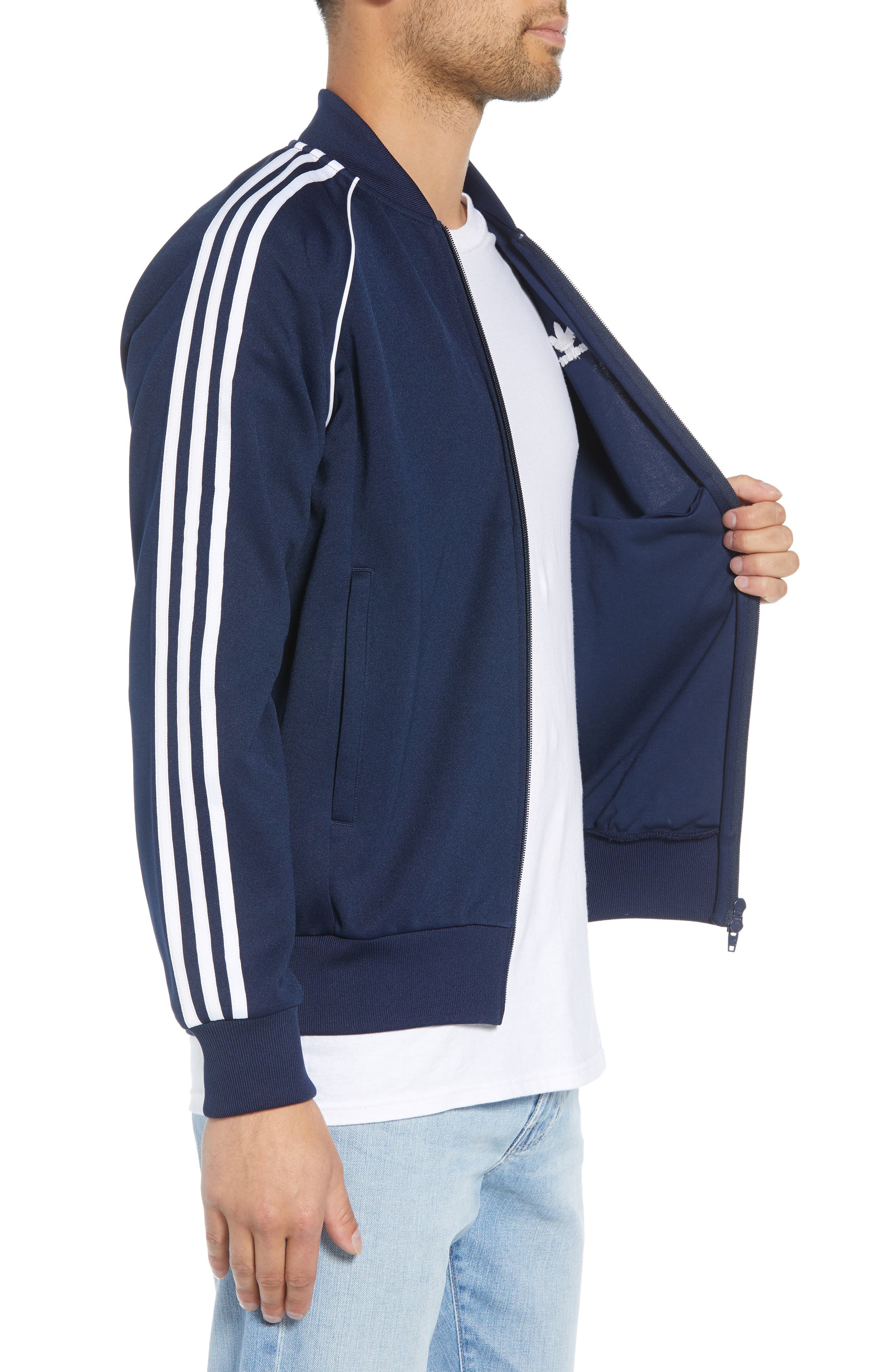 adidas SST Track Jacket,                             Alternate thumbnail 3, color,                             COLLEGIATE NAVY