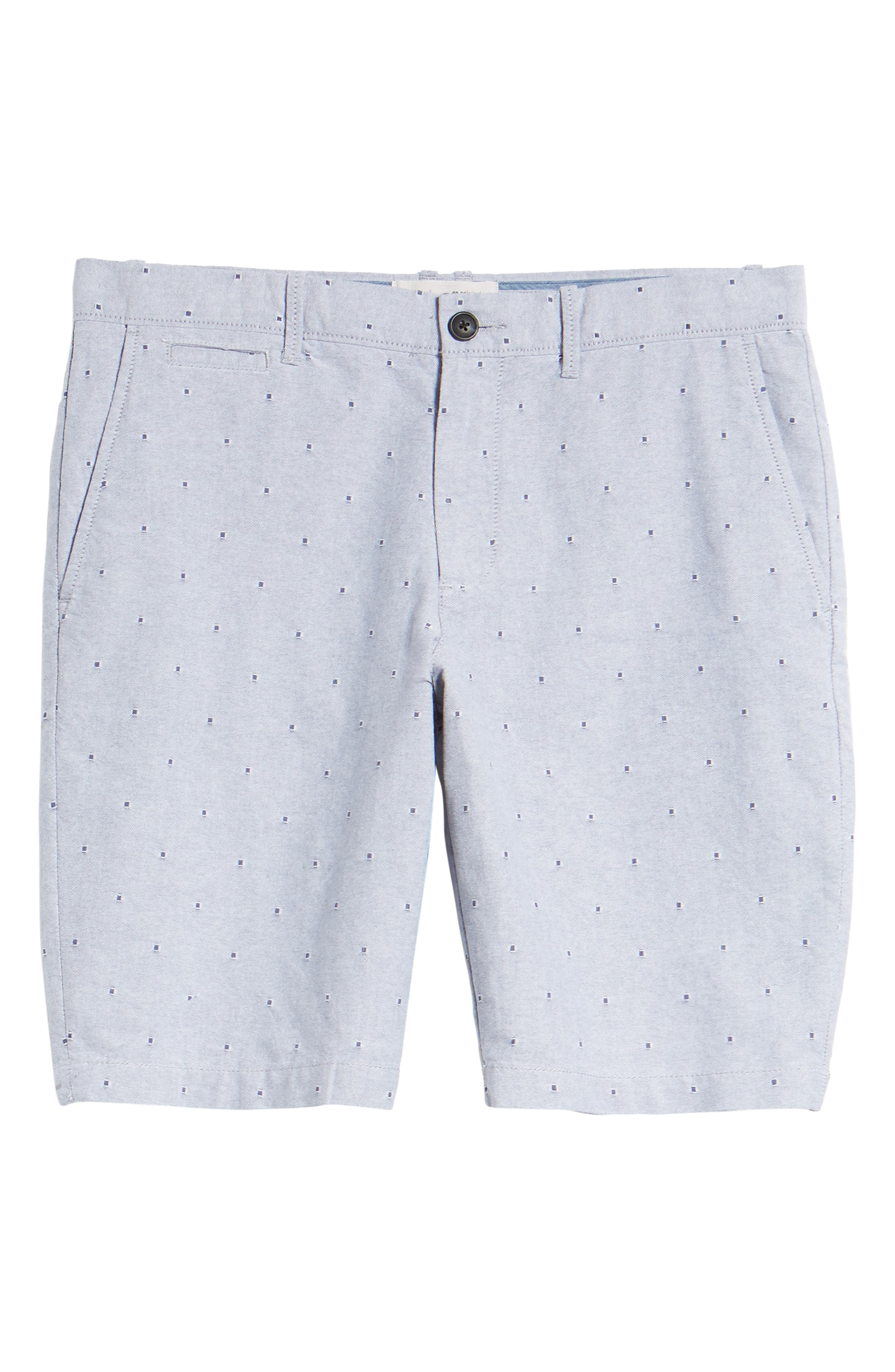 Dobby Dot Slim Fit Oxford Shorts,                             Alternate thumbnail 8, color,