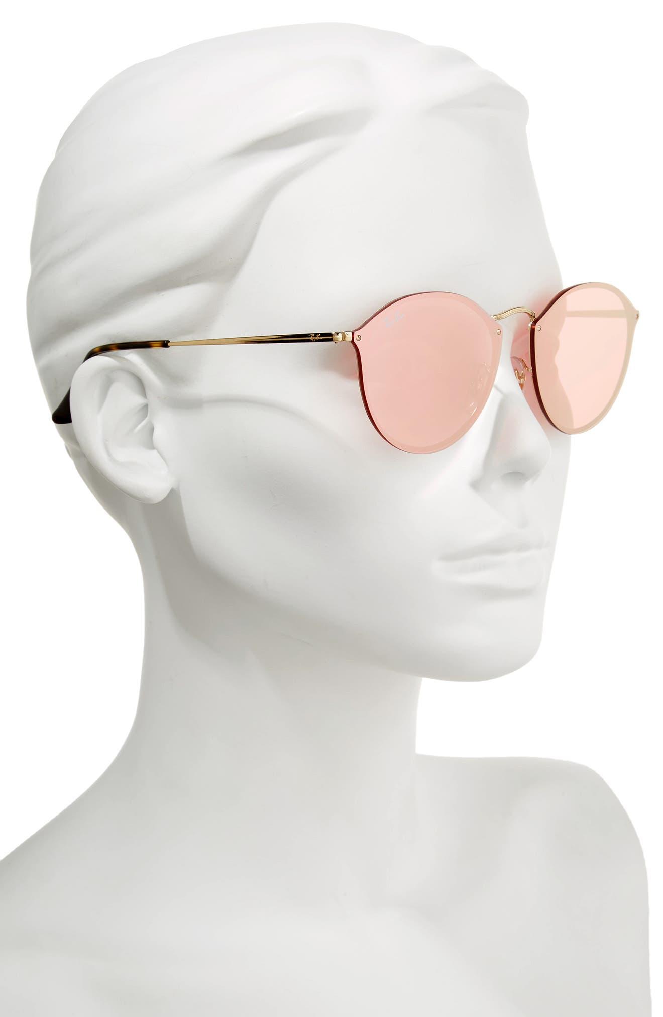 59mm Blaze Round Mirrored Sunglasses,                             Alternate thumbnail 8, color,