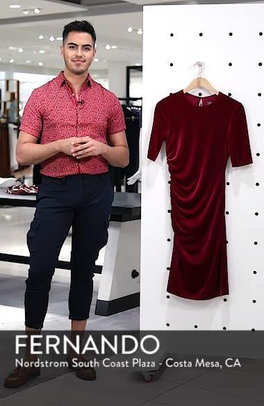 Elbow Sleeve Velvet Sheath Dress, sales video thumbnail