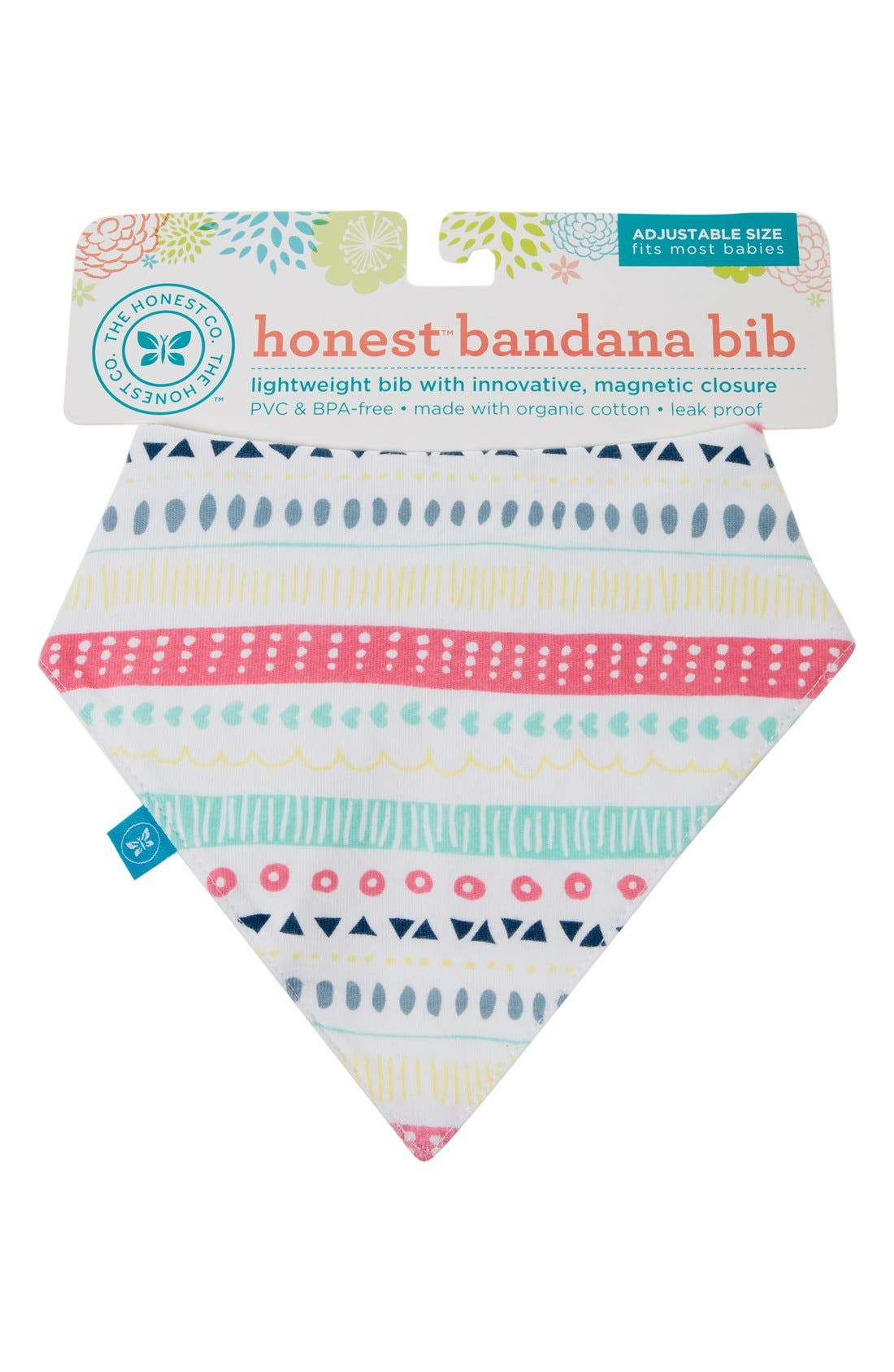 Organic Cotton Bandana Bib,                             Main thumbnail 1, color,                             PASTEL TRIBAL