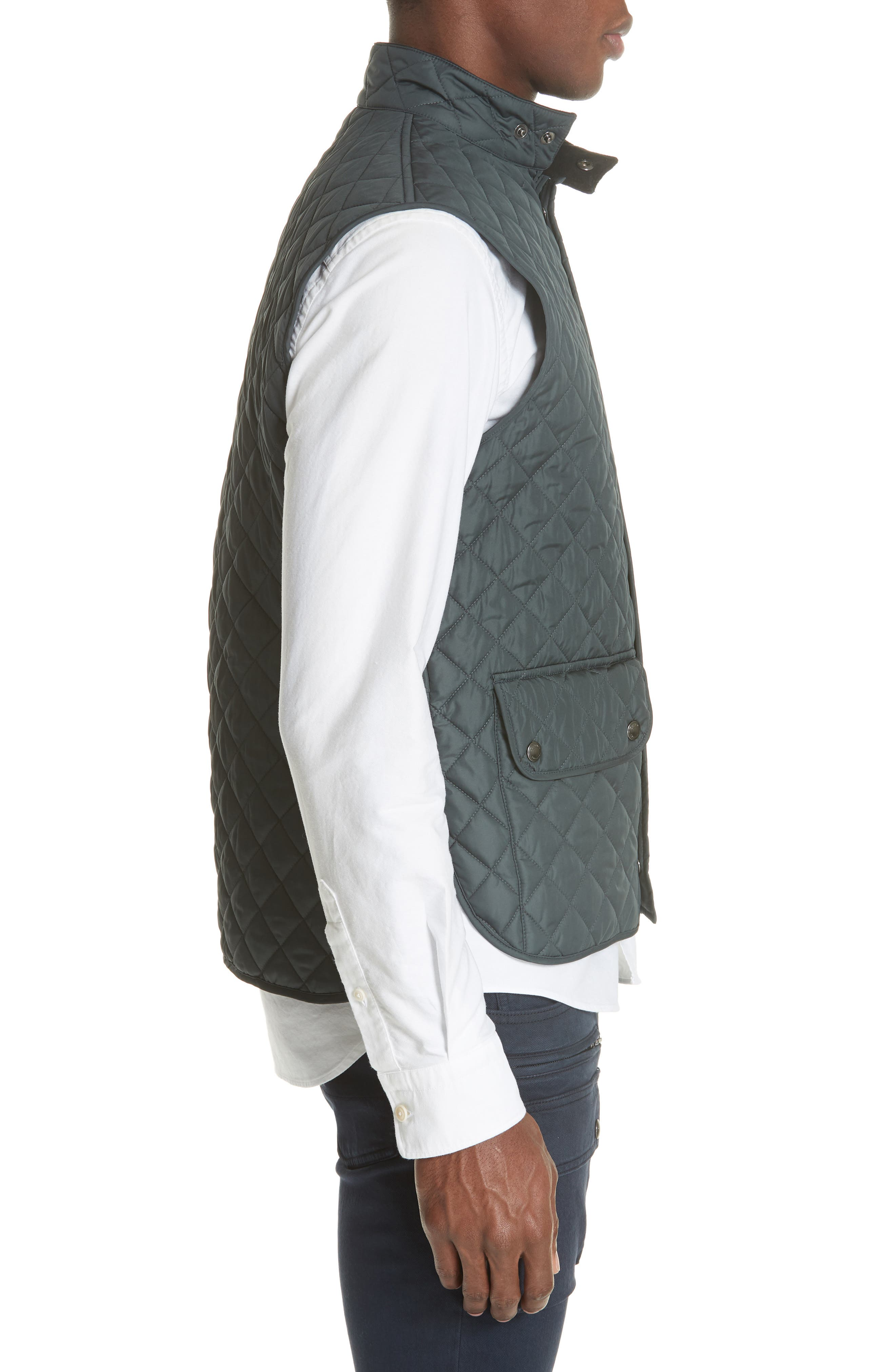 Waistcoat Tech Quilted Vest,                             Alternate thumbnail 3, color,                             400
